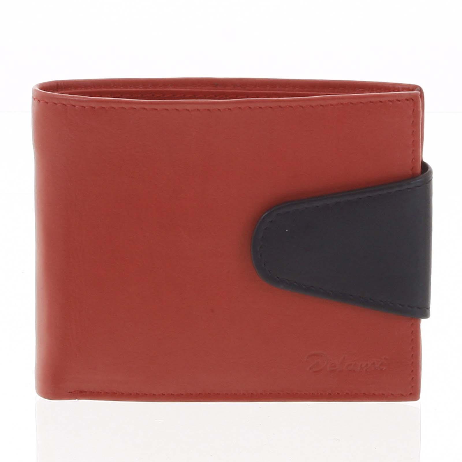 Pánská kožená peněženka červená - Delami 11816