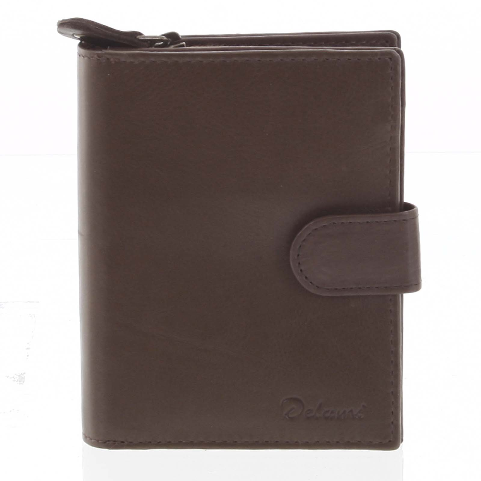 Kožená peněženka hnědá - Delami 101