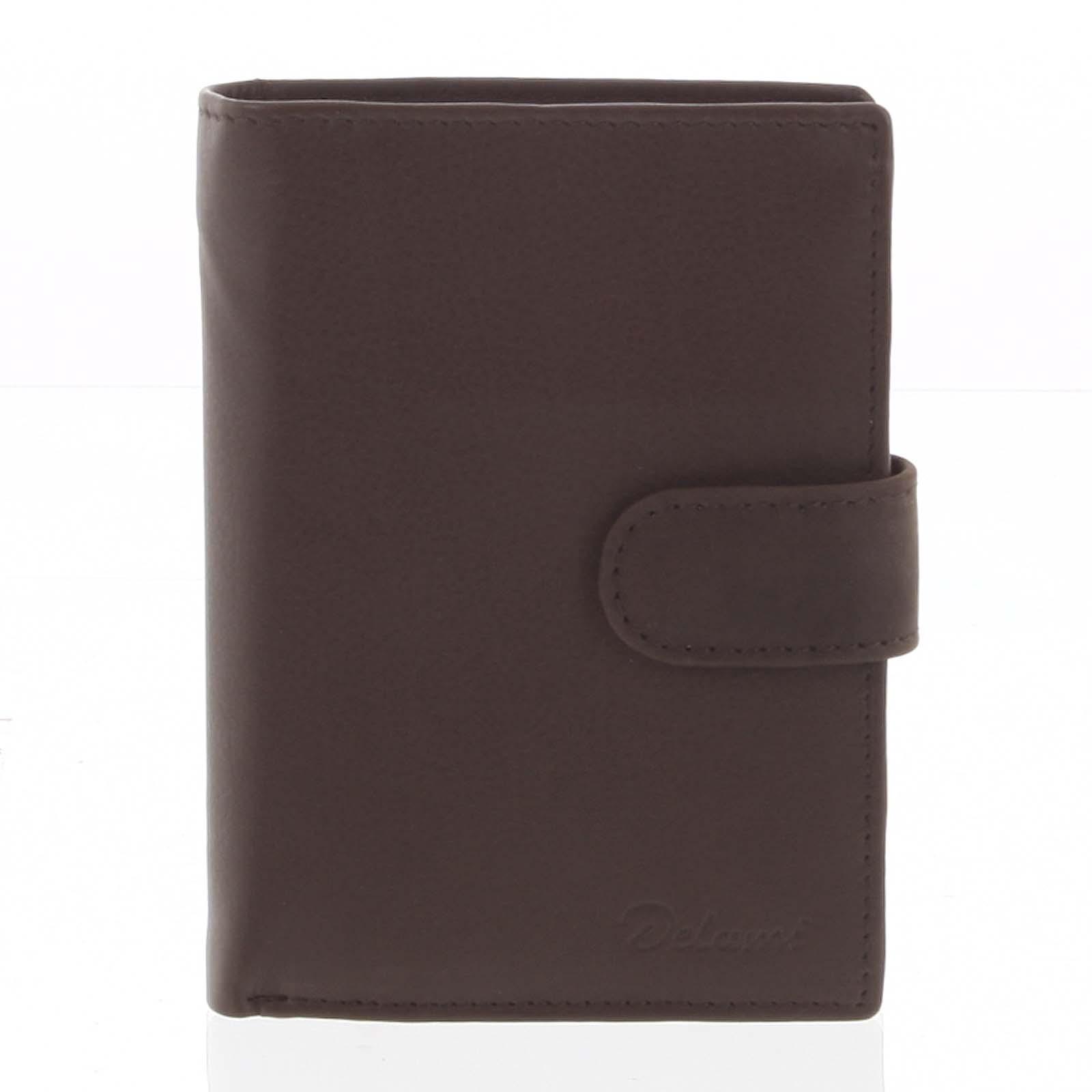 Pánská kožená hnědá peněženka - Delami 8703