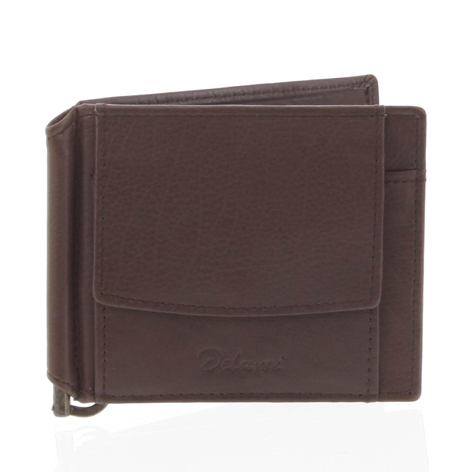 Malá kožená hnědá peněženka - Delami 8697