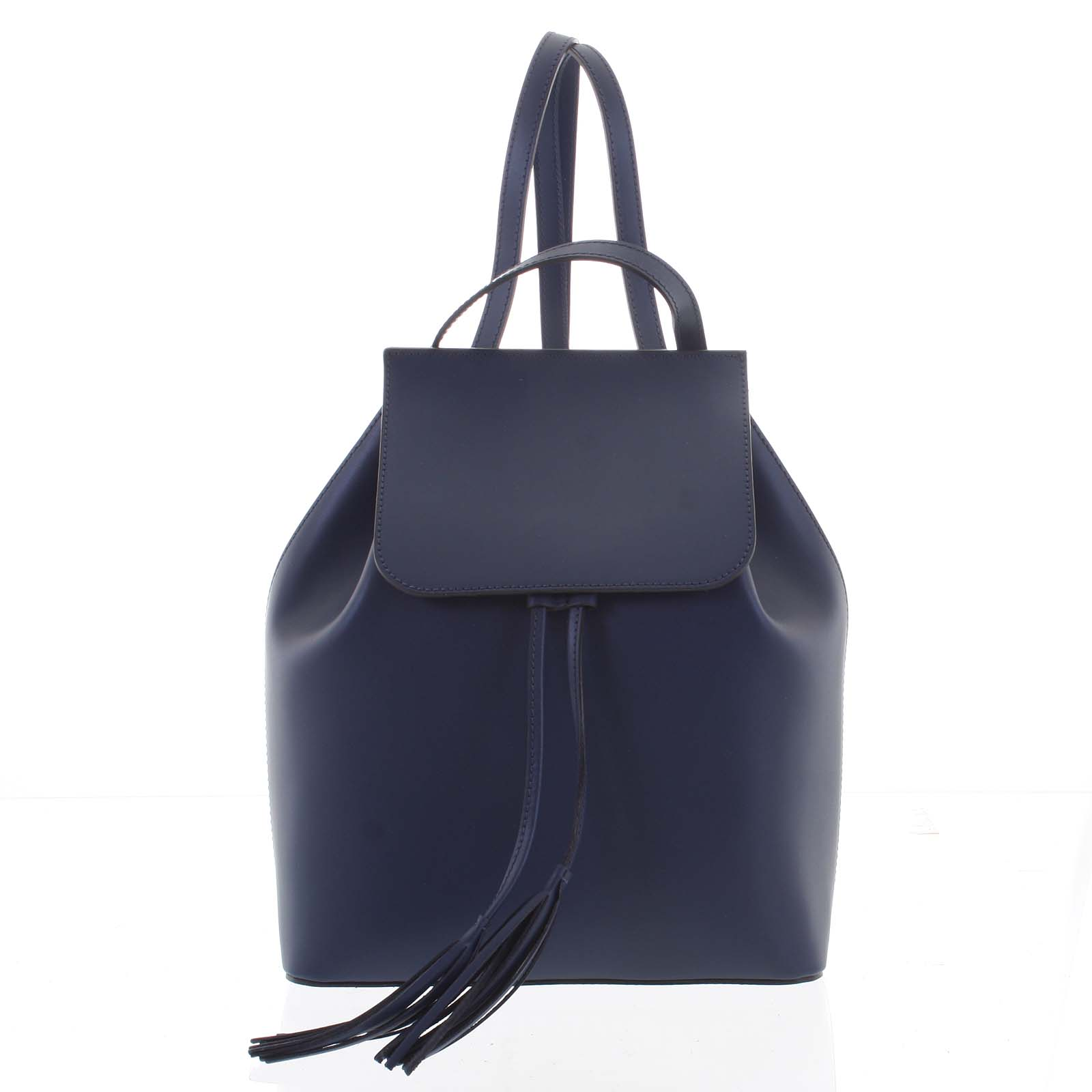 Luxusní dámský batoh tmavě modrý kožený - ItalY Adelpha