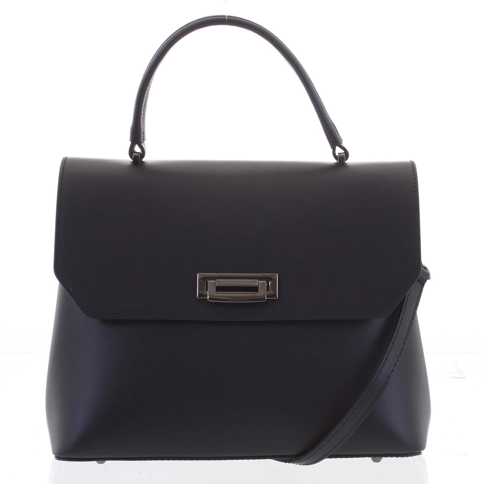 Originální hladká černá dámská kabelka do ruky - ItalY Neolila