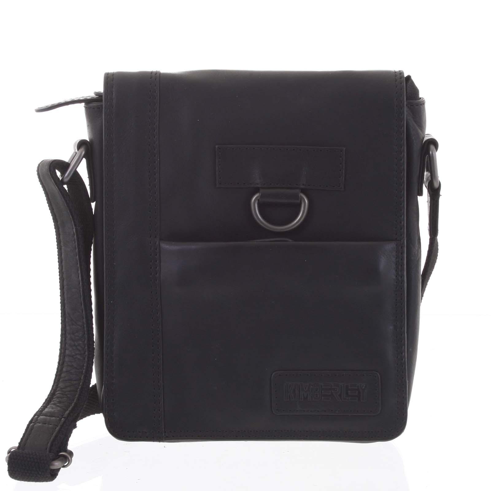 Luxusní pánská kožená taška černá - Kimberley Nozeus