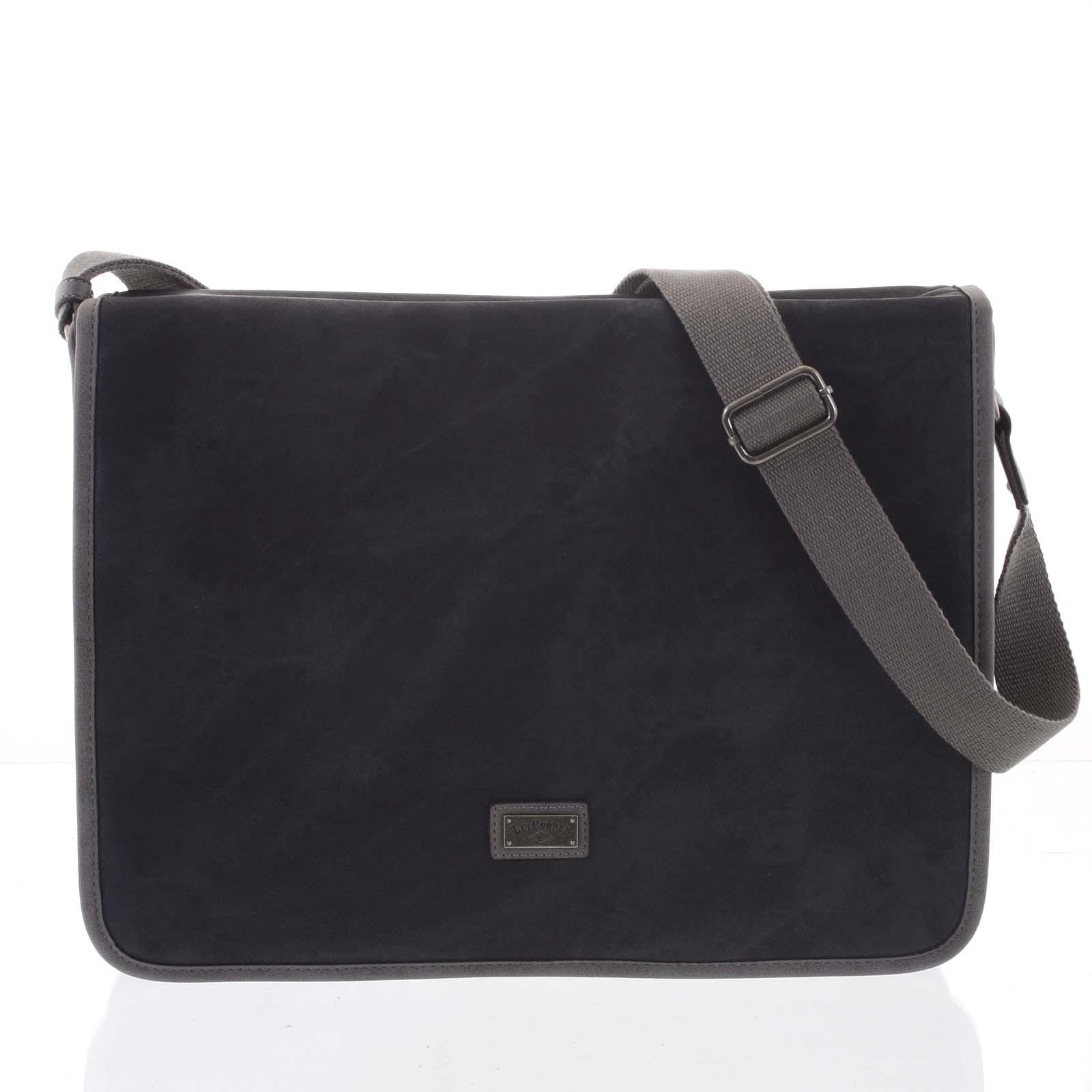 Velká černá moderní taška na notebook - Lee Cooper Aesculapius