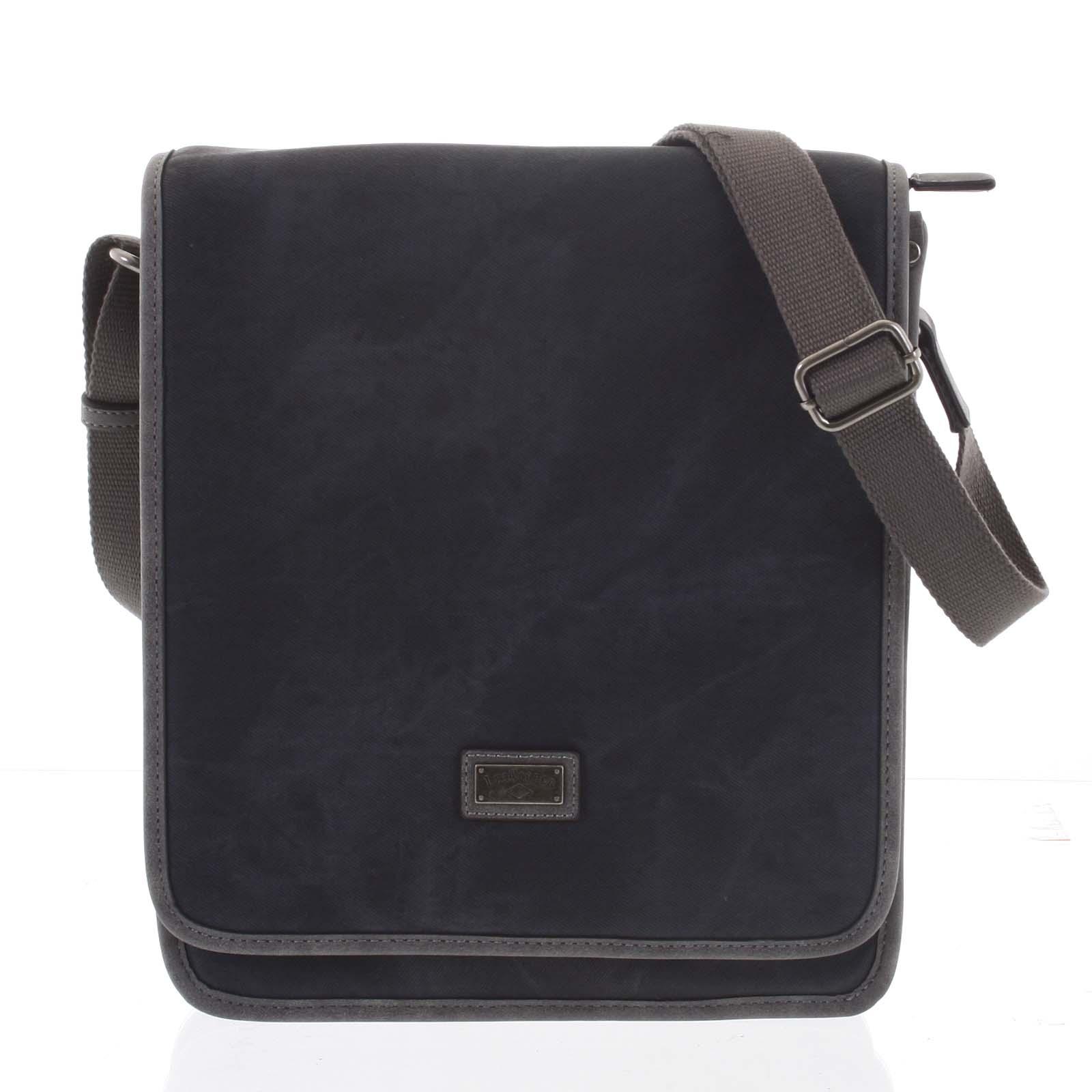 Černá moderní pánská taška přes rameno - Lee Cooper Adrastos