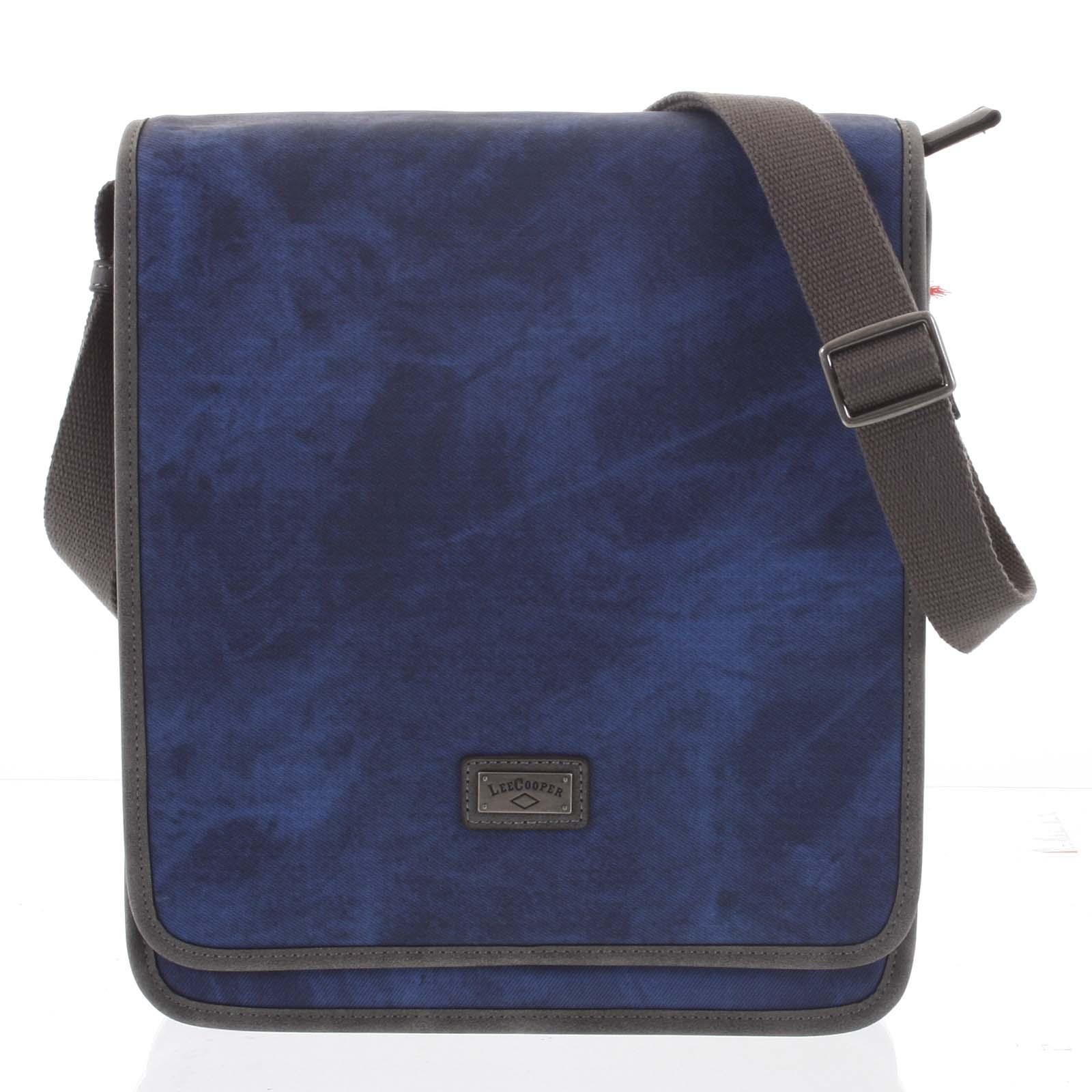 Modrá moderní pánská taška přes rameno - Lee Cooper Adrastos