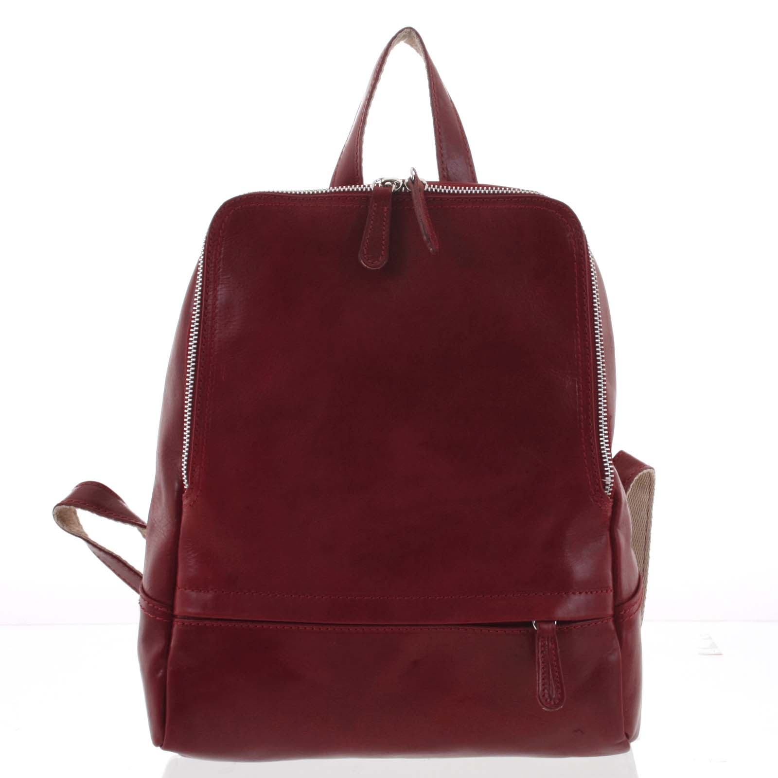 Dámský kožený batůžek červený - ItalY Zeus