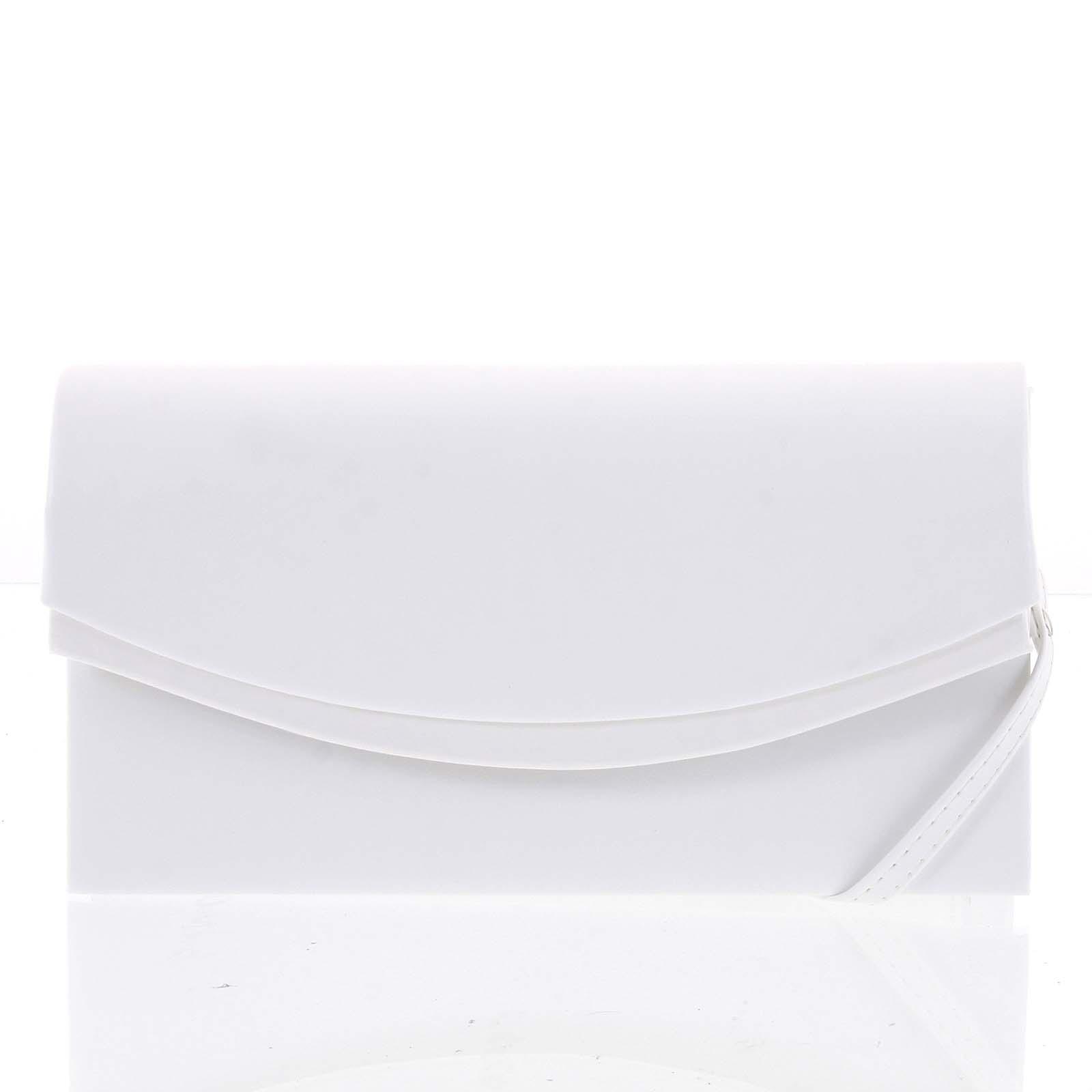 Dámské bílé elegantní matné psaníčko - Delami Wave