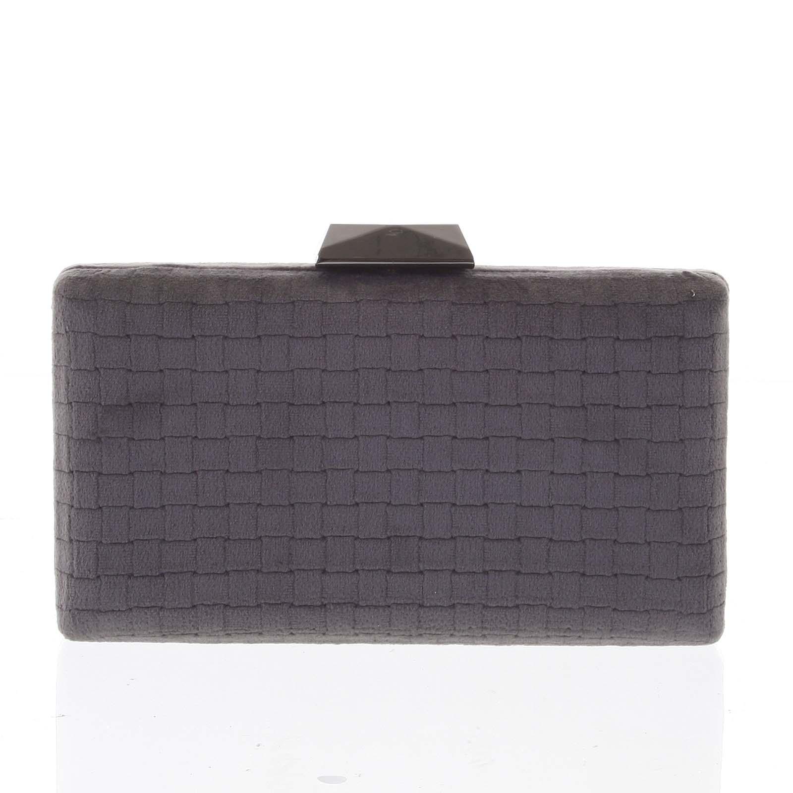 Luxusní semišové originální tmavě šedé psaníčko - Delami ZL093