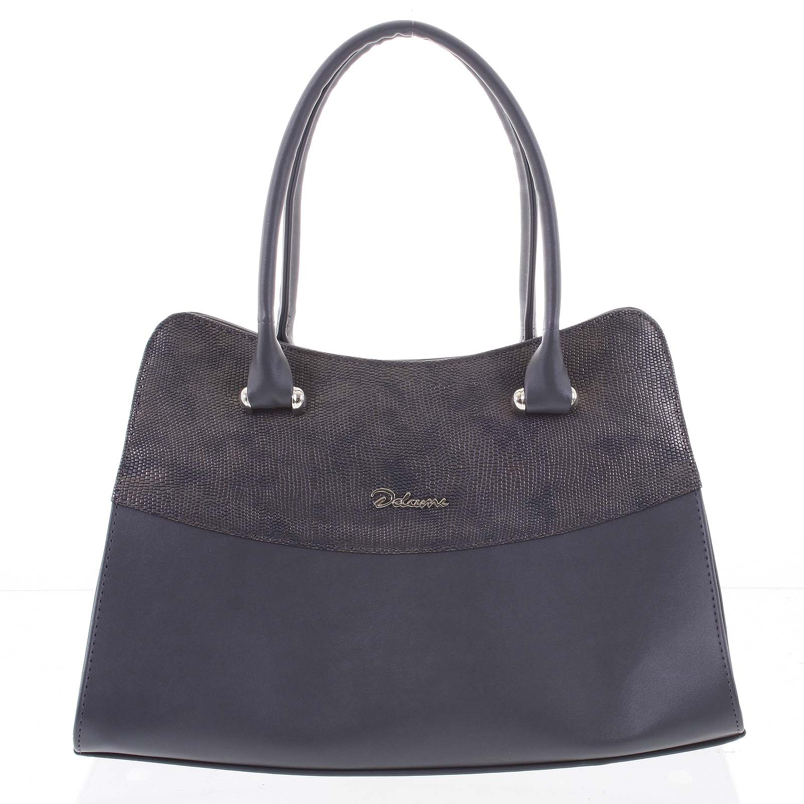 Módní dámská kabelka do ruky šedá - Delami Elliana