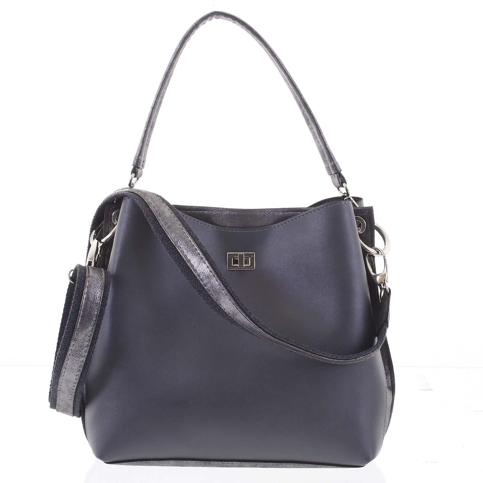 Moderní dámská kabelka šedá - Delami Trecia