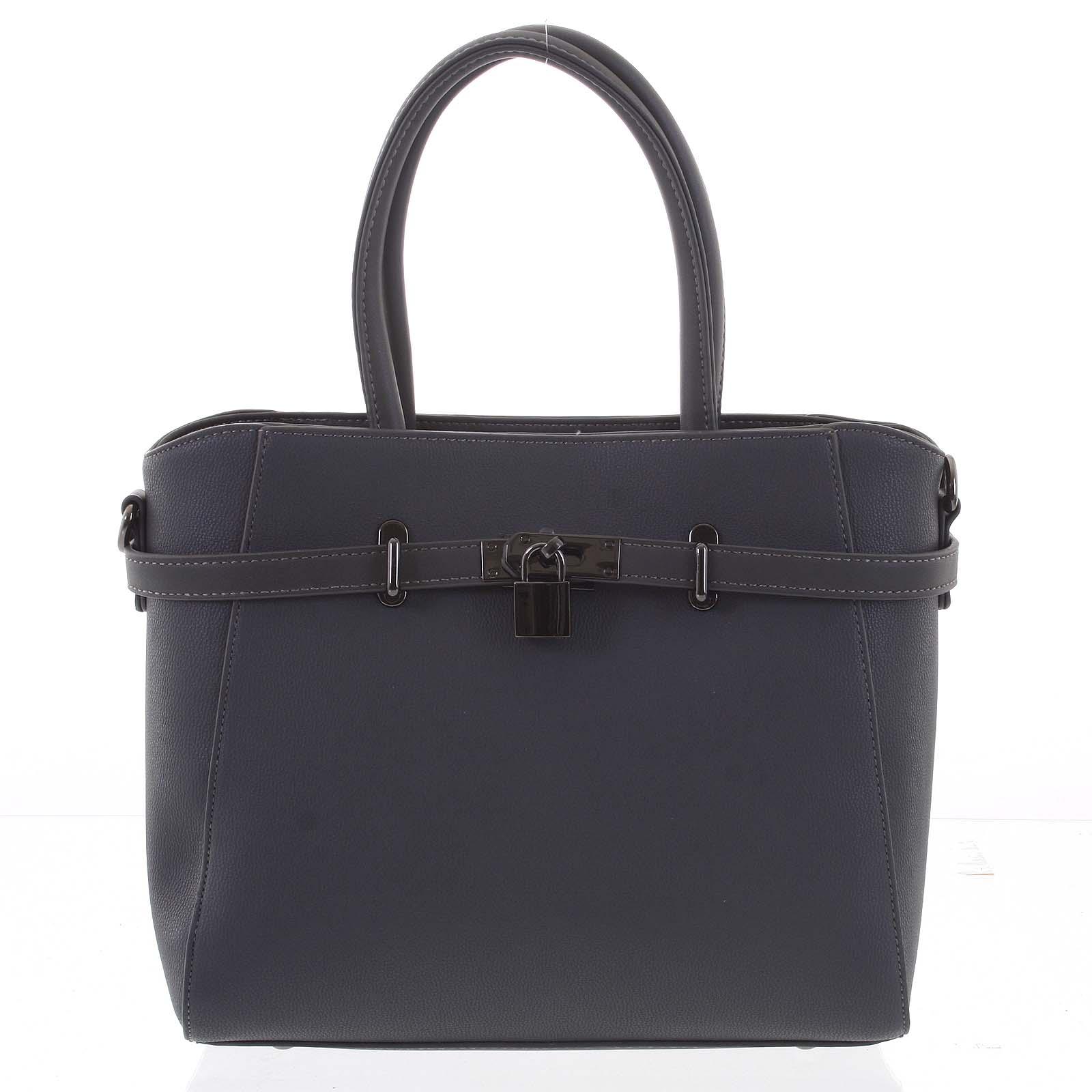 Luxusní stylová menší tmavě šedá kabelka do ruky - David Jones Haless