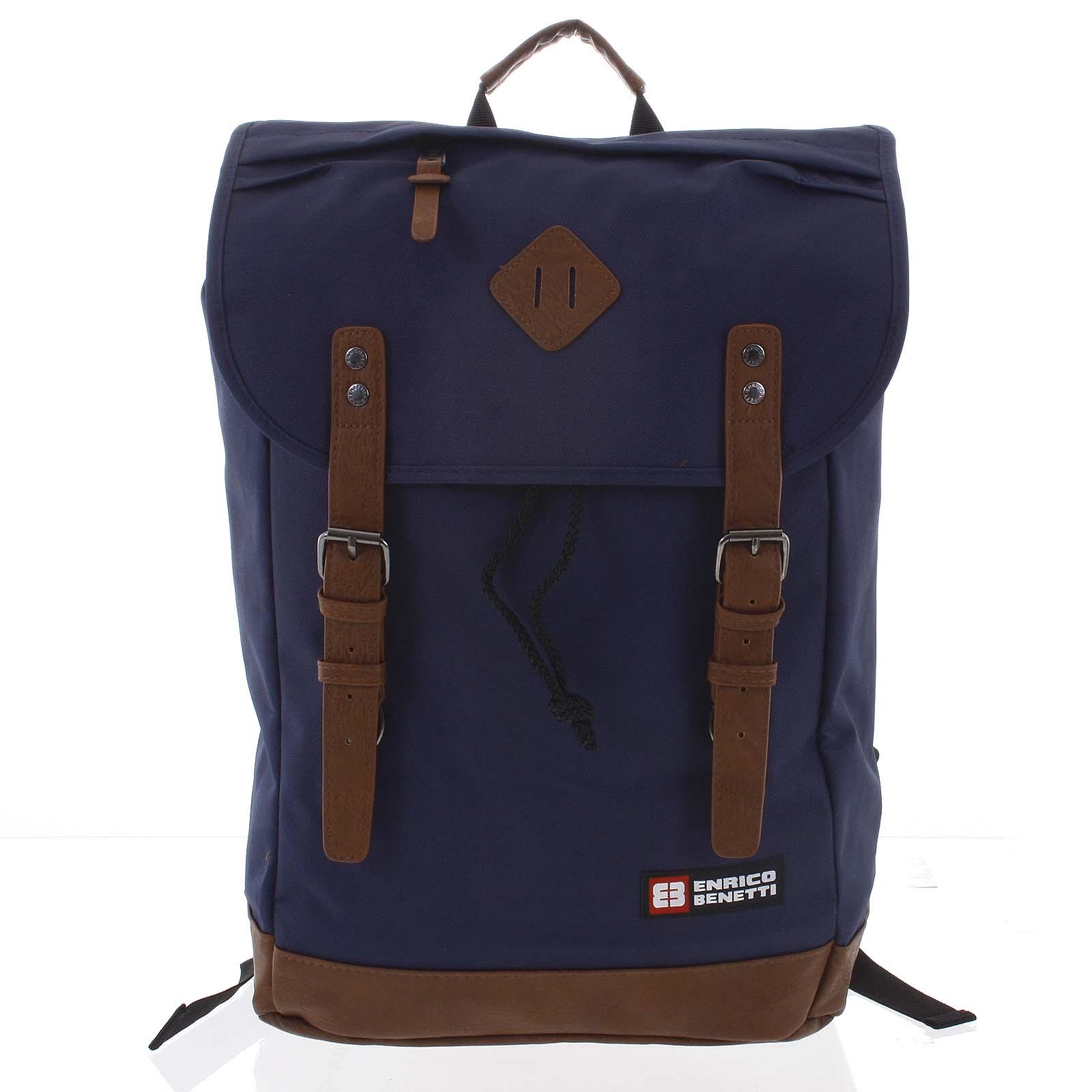 Velký stylový tmavě modrý batoh - Enrico Benetti Spoon
