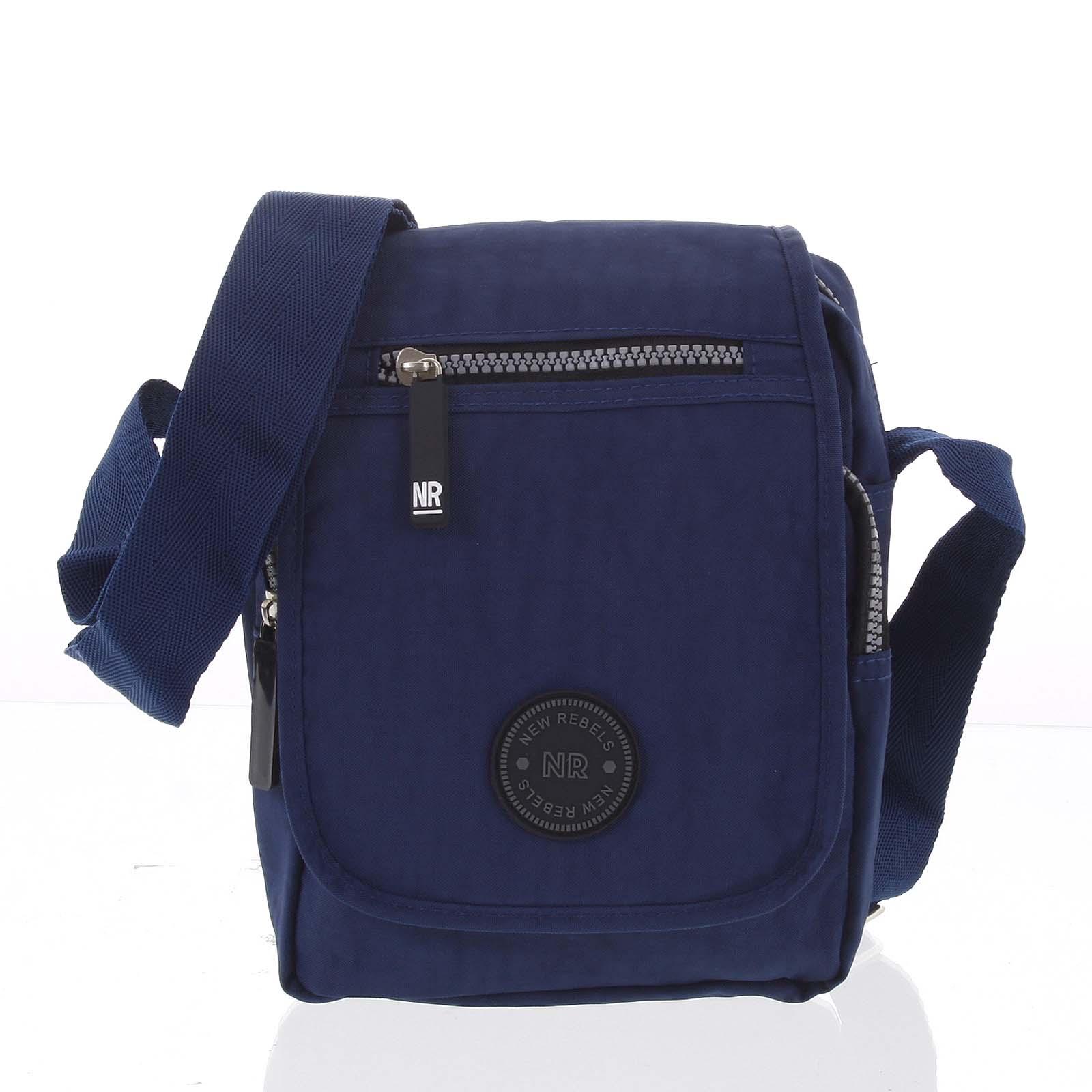 Malá sportovní taška na doklady tmavě modrá - New Rebels Jacob