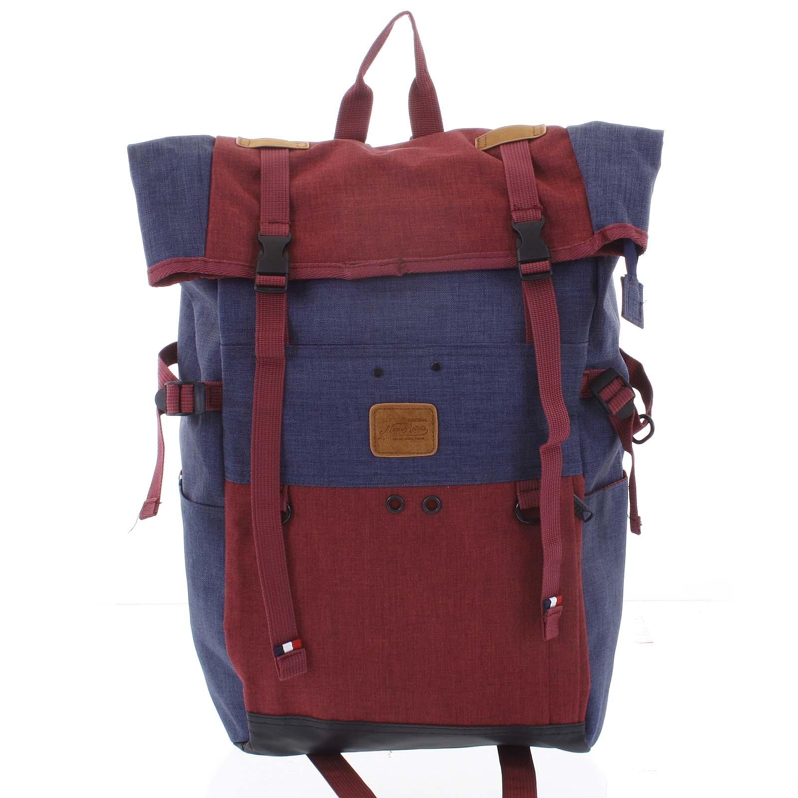 Kombinovaný cestovní batoh modro vínový - New Rebels Messer