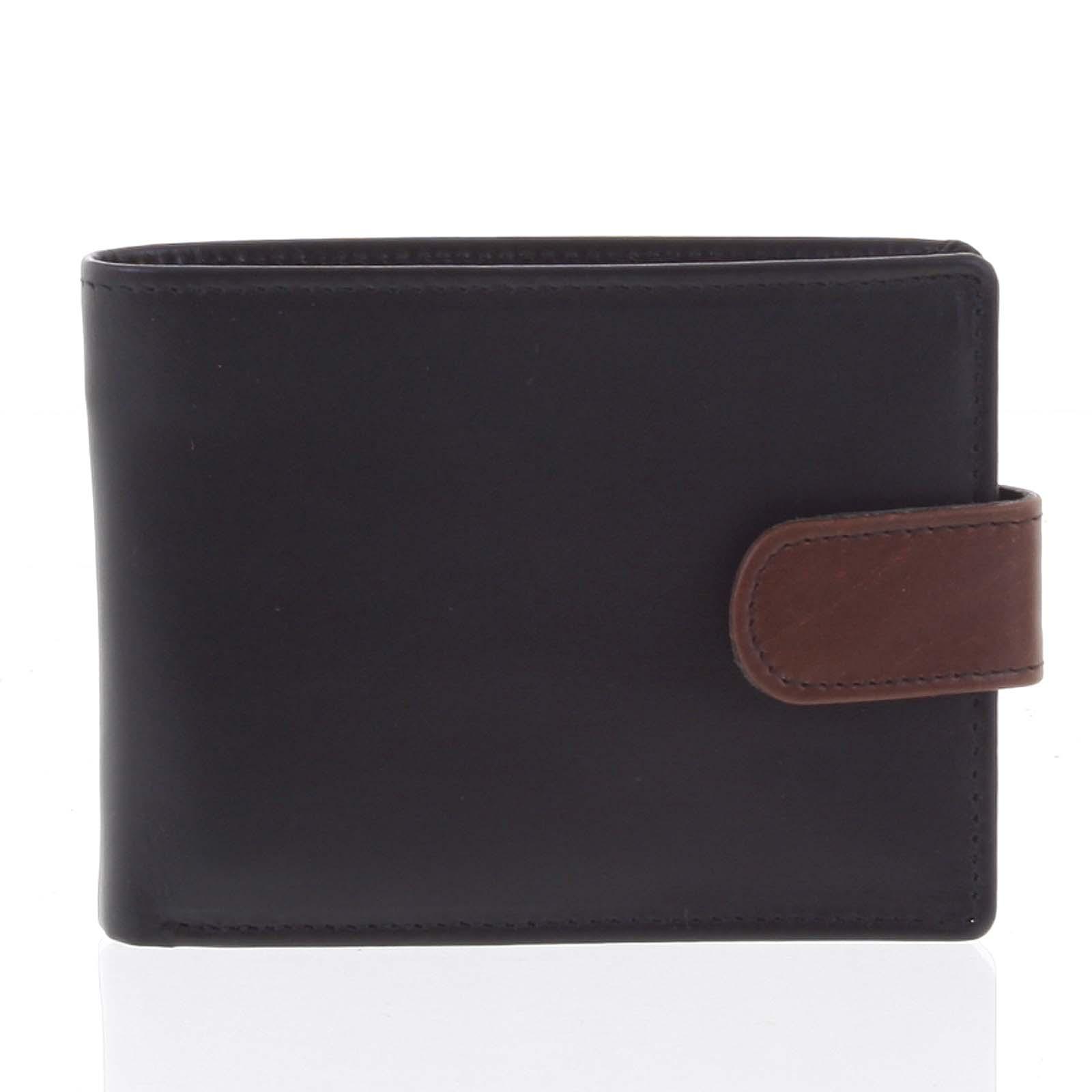 Kožená černá pánská peněženka - Tomas 99VT