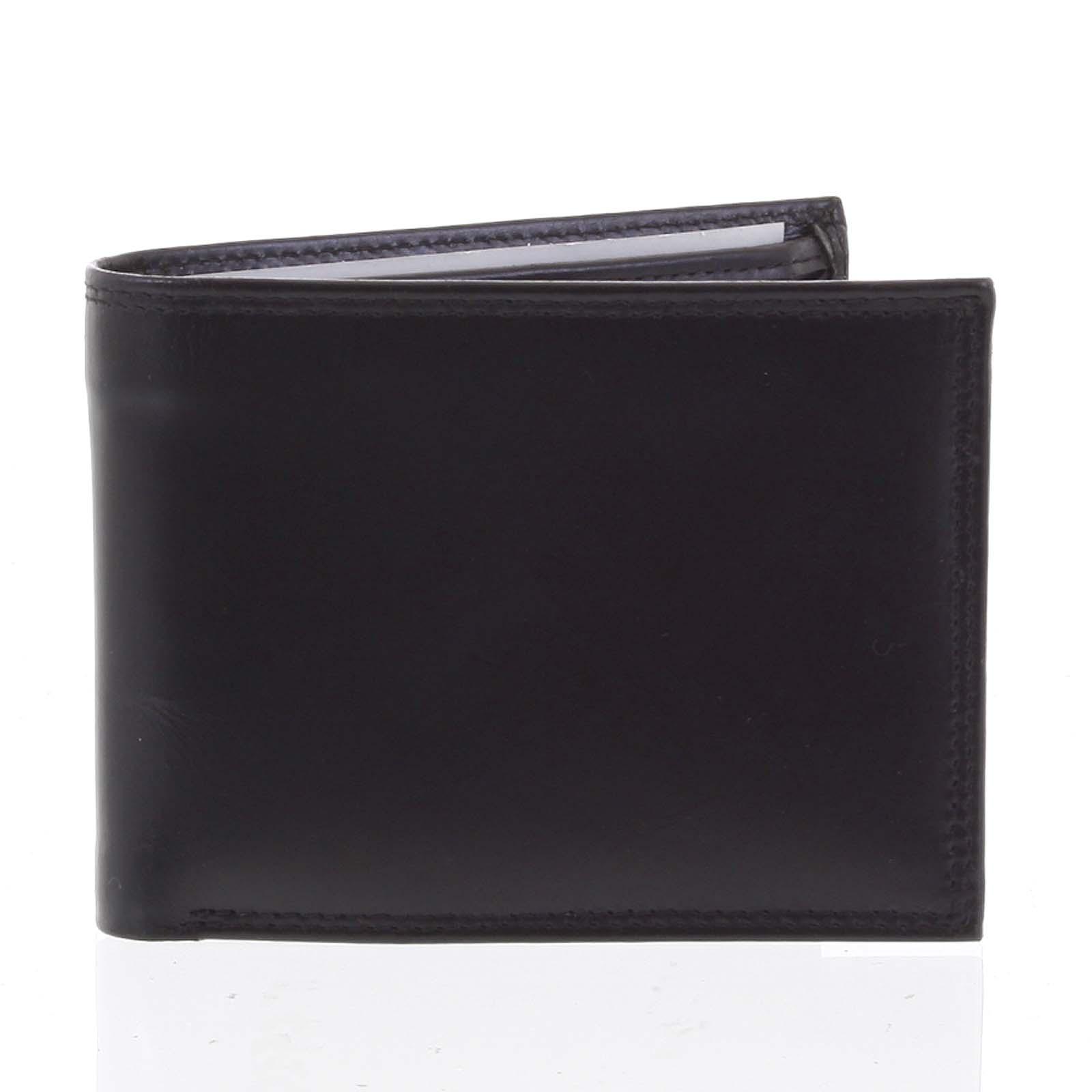Kožená pánská černá hladká volná peněženka - ItParr