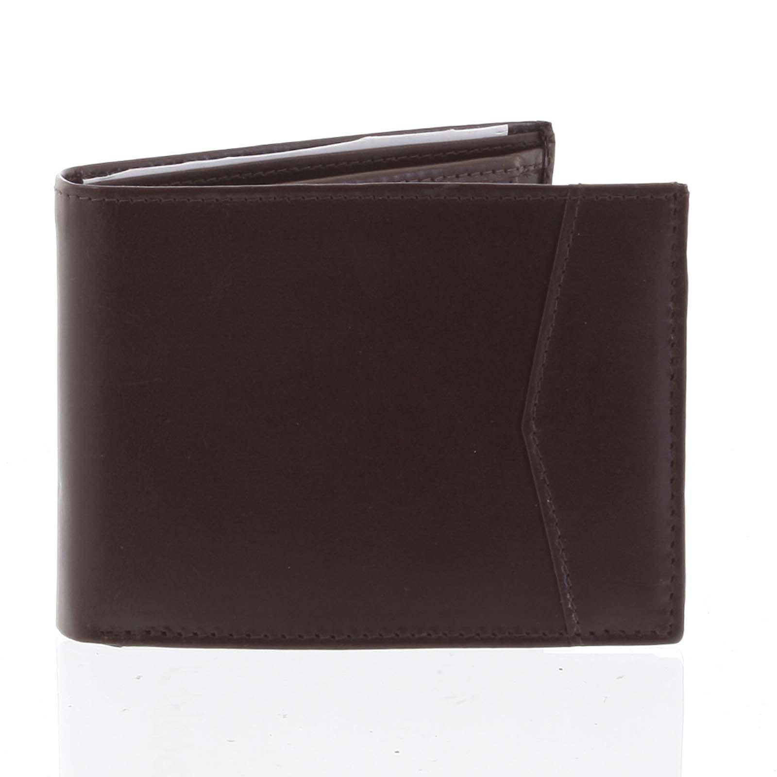 Pánská hnědá kožená volná peněženka - Tomas Paast
