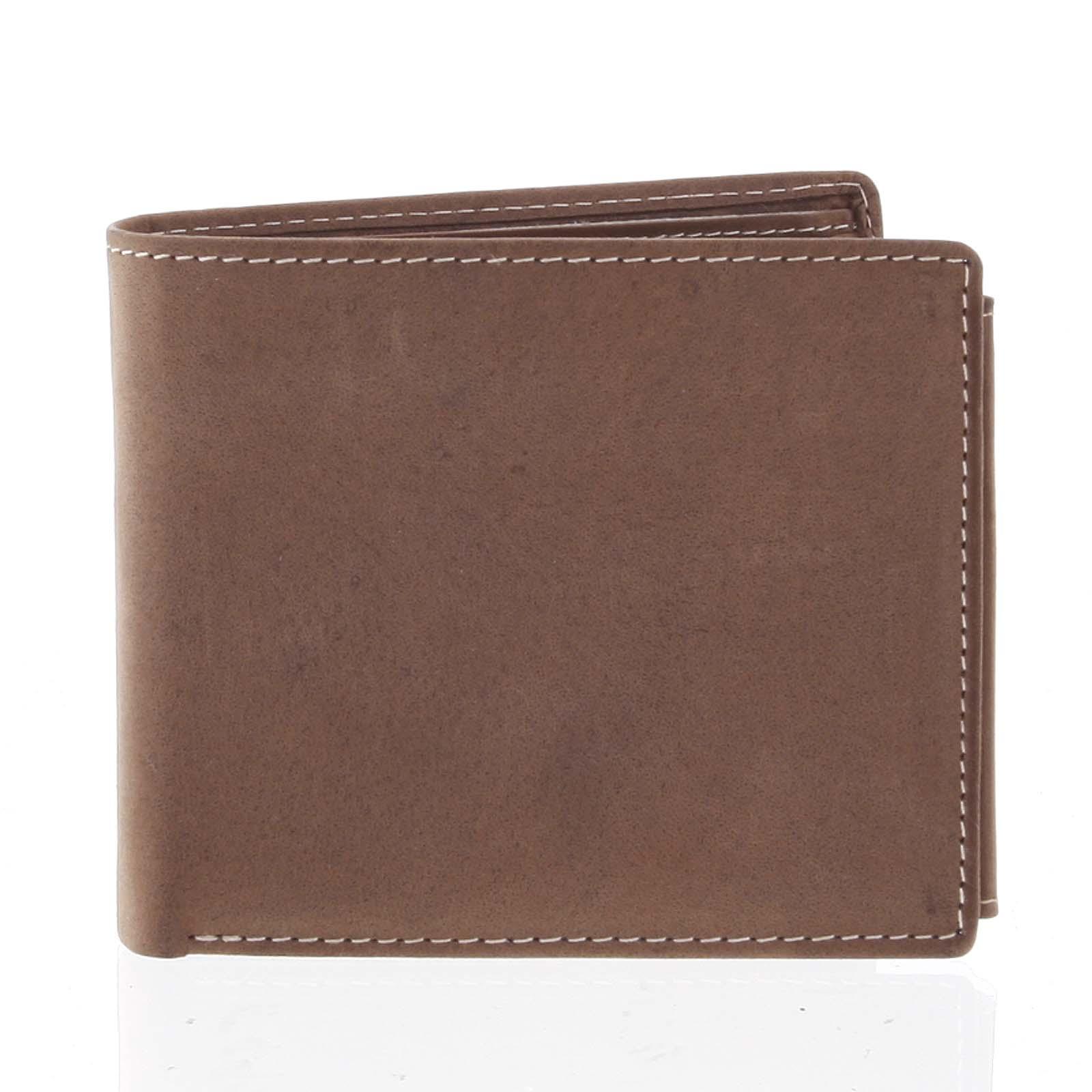 Prostorná pánská kožená hnědá peněženka - Tomas Vilaj