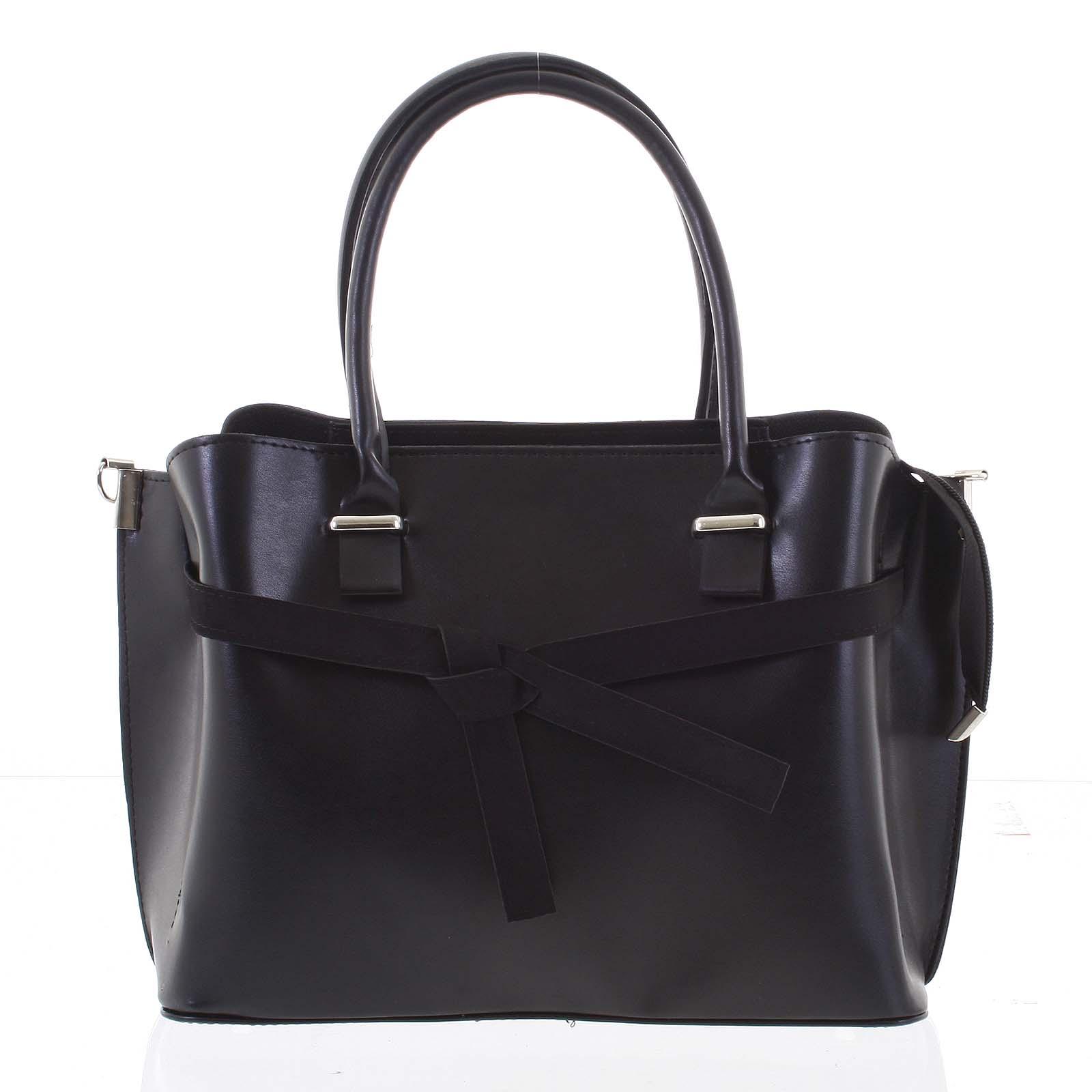 Trendy dámská kabelka do ruky černá - Delami Giovanna