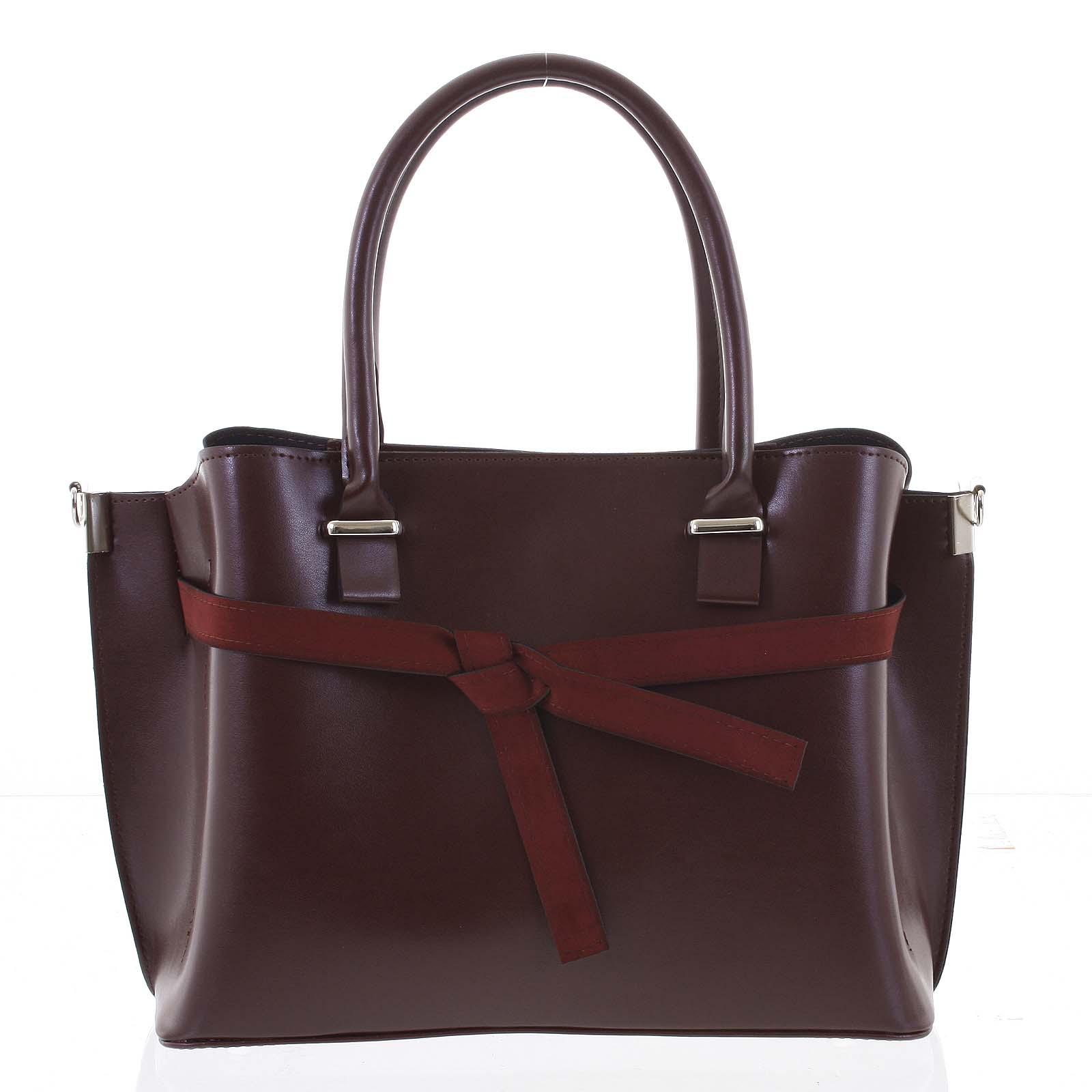 Trendy dámská kabelka do ruky vínová - Delami Giovanna