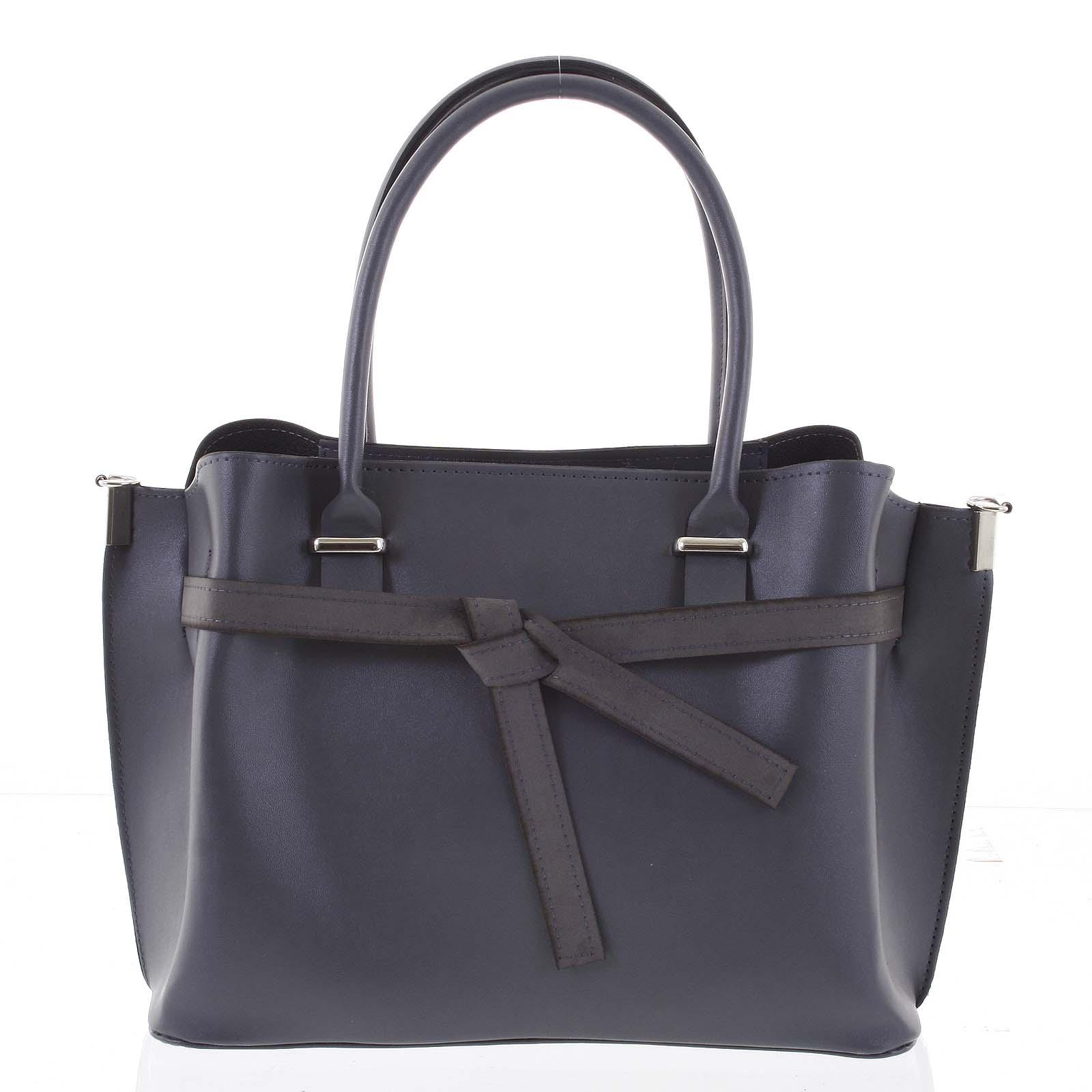 Trendy dámská kabelka do ruky šedá - Delami Giovanna