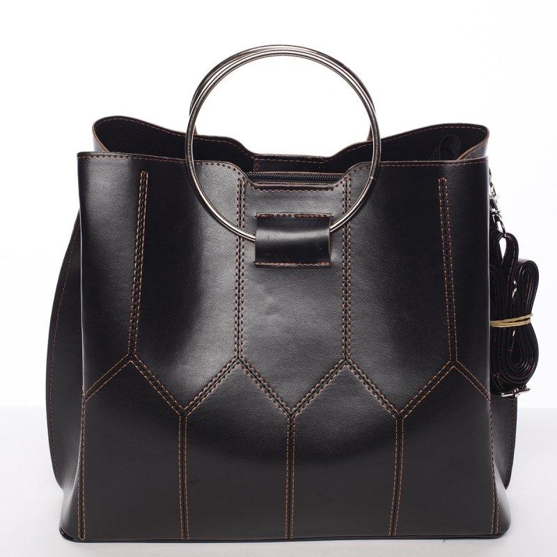 Luxusní dámská kabelka černo hnědá - Delami Gracelynn