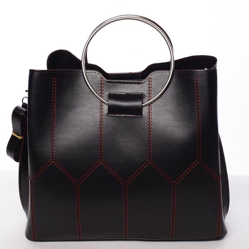 Luxusní dámská kabelka černo červená - Delami Gracelynn