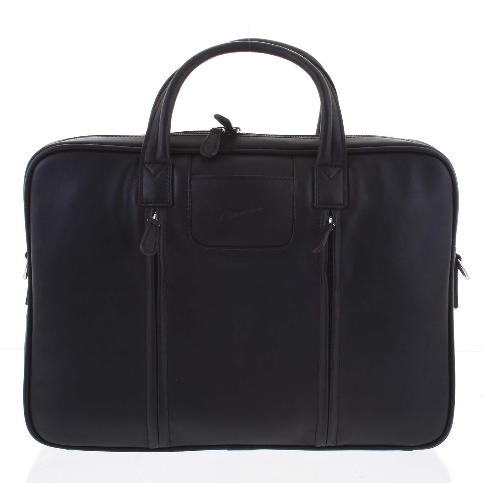 Luxusní kožená taška přes rameno černá - Gerard Henon Derell