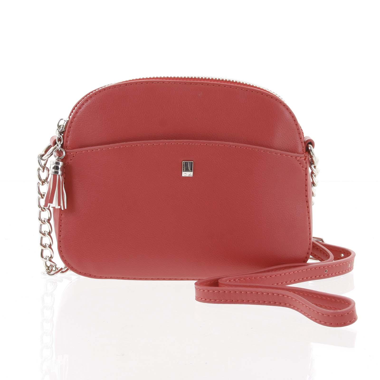 Dámská tmavě růžová crossbody mini kabelka - David Jones Shirley