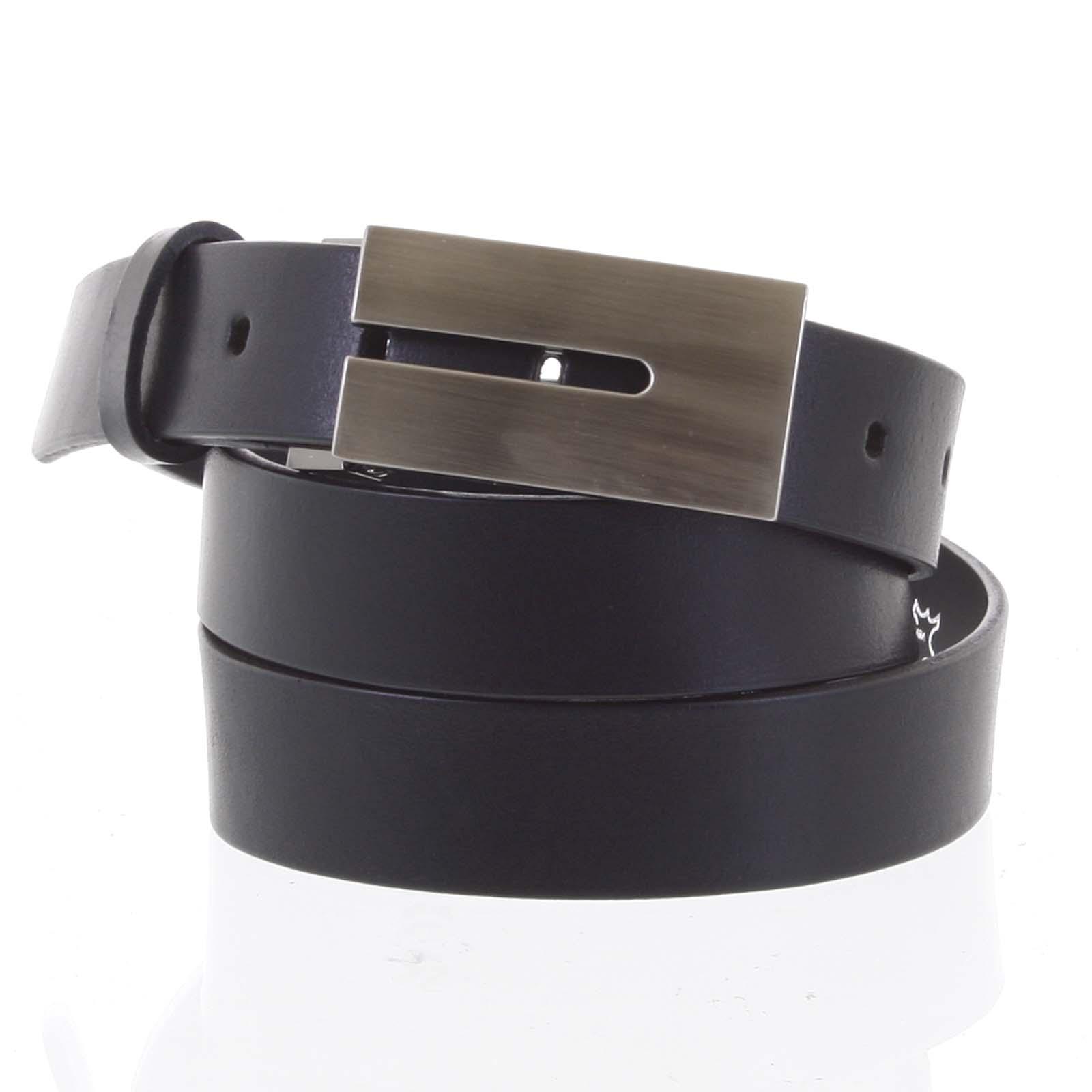 Exkluzivní pánský kožený opasek černý - Maxim Tape