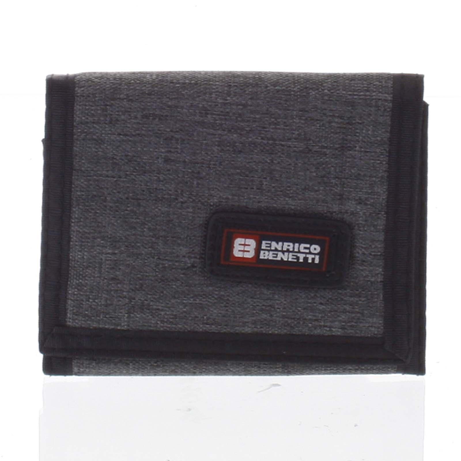 Peněženka látková tmavě šedá - Enrico Benetti 4600