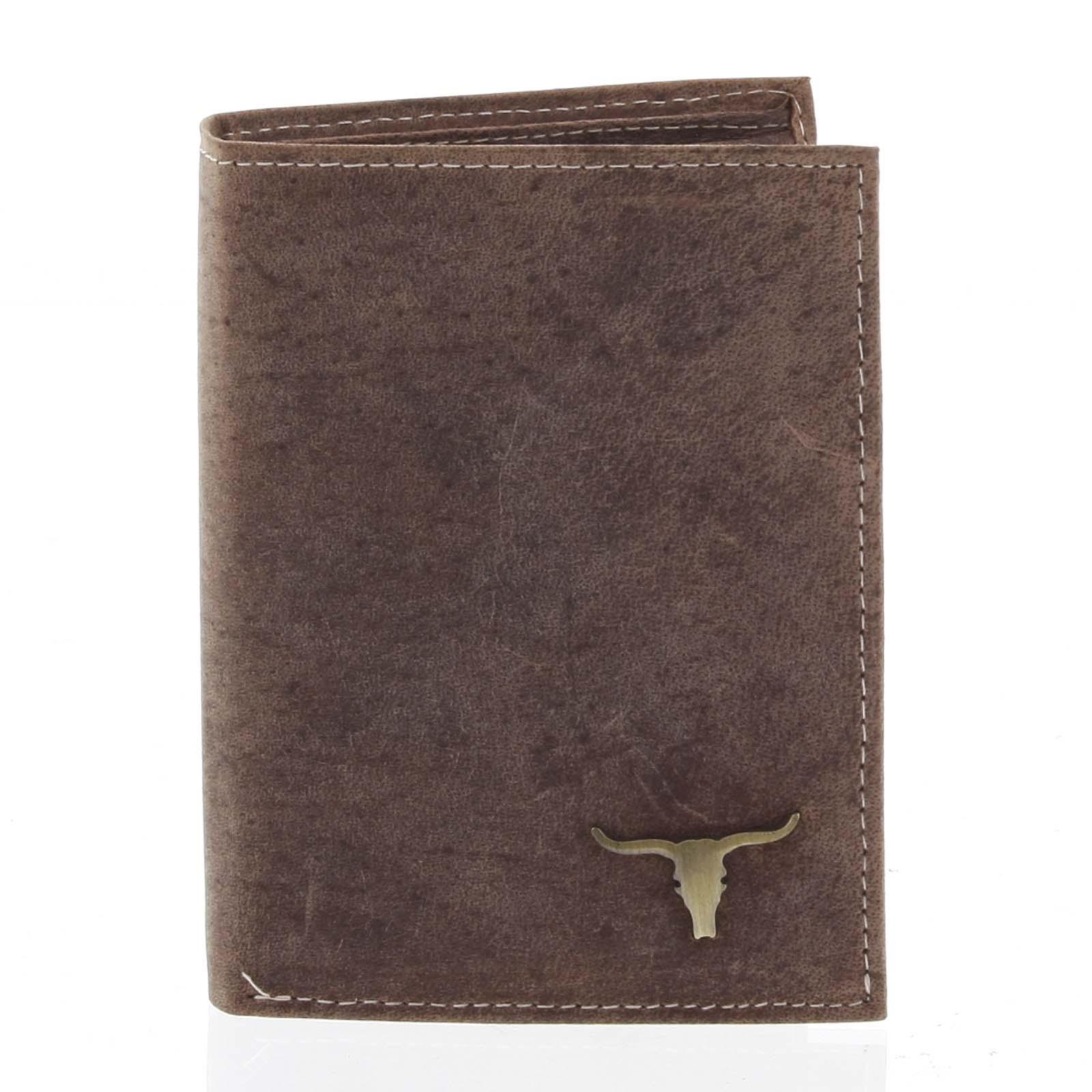 Pánská kožená peněženka camel - BUFFALO Dura