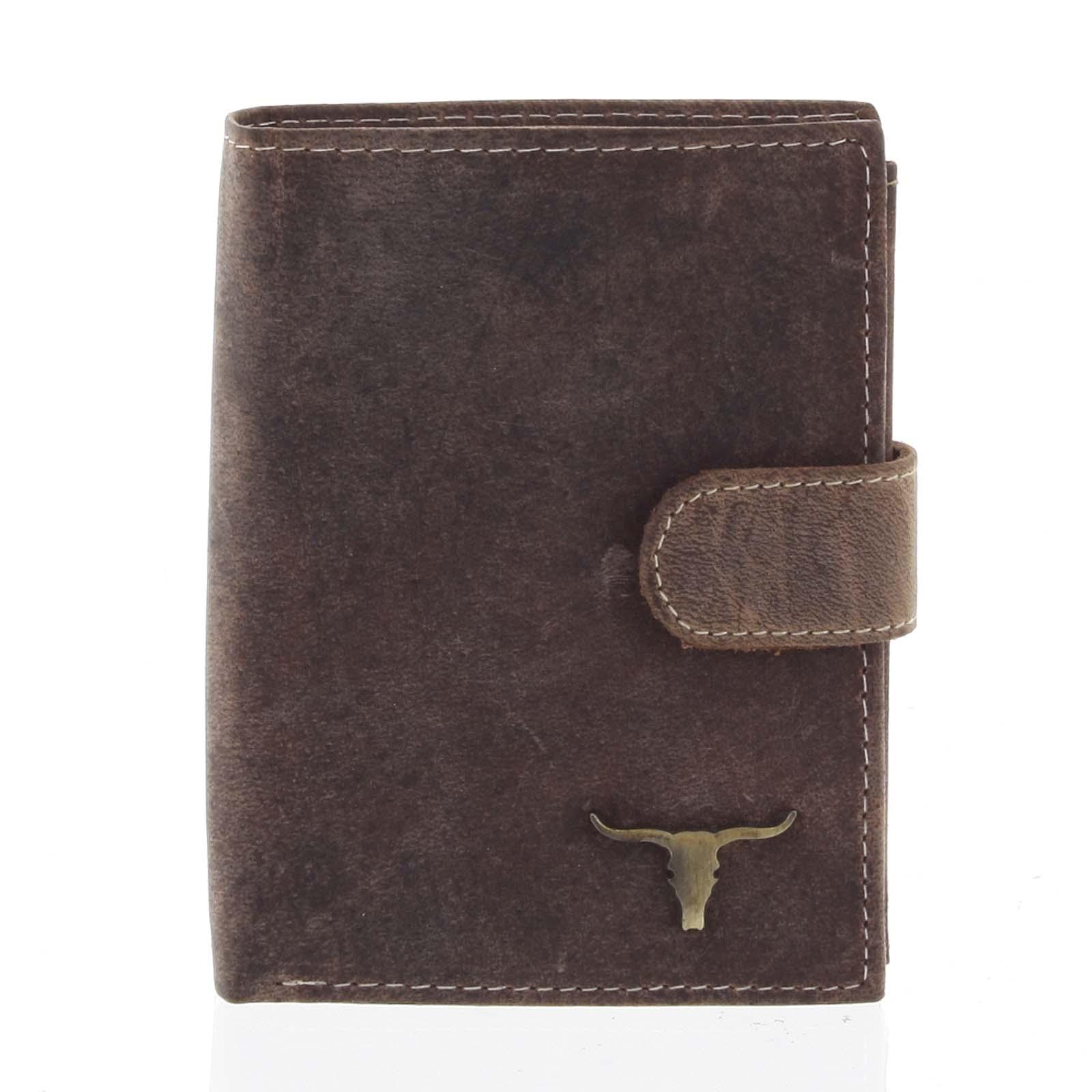 Pánská kožená peněženka se zápinkou camel - BUFFALO Aretas