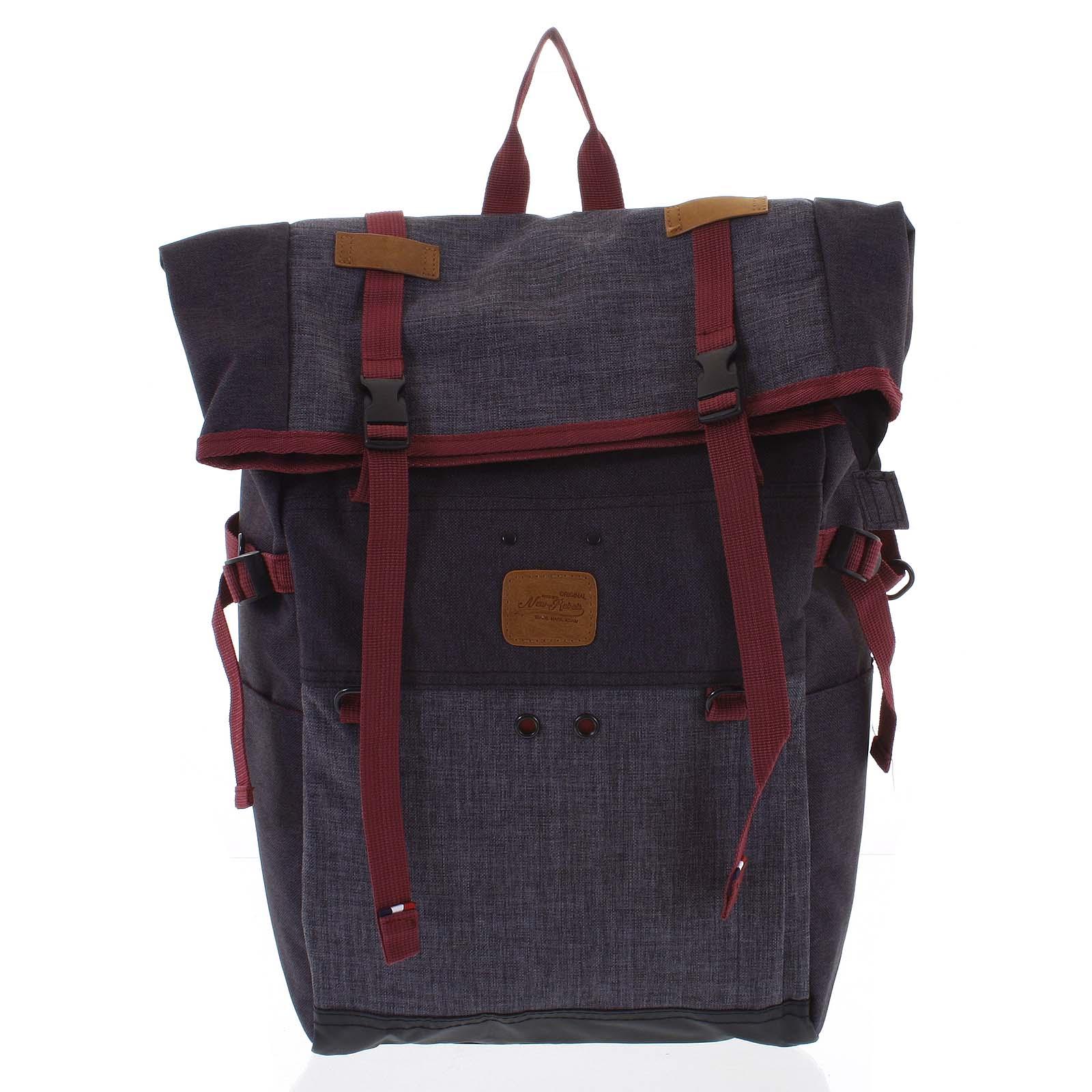Kombinovaný cestovní batoh černo šedý - New Rebels Messer
