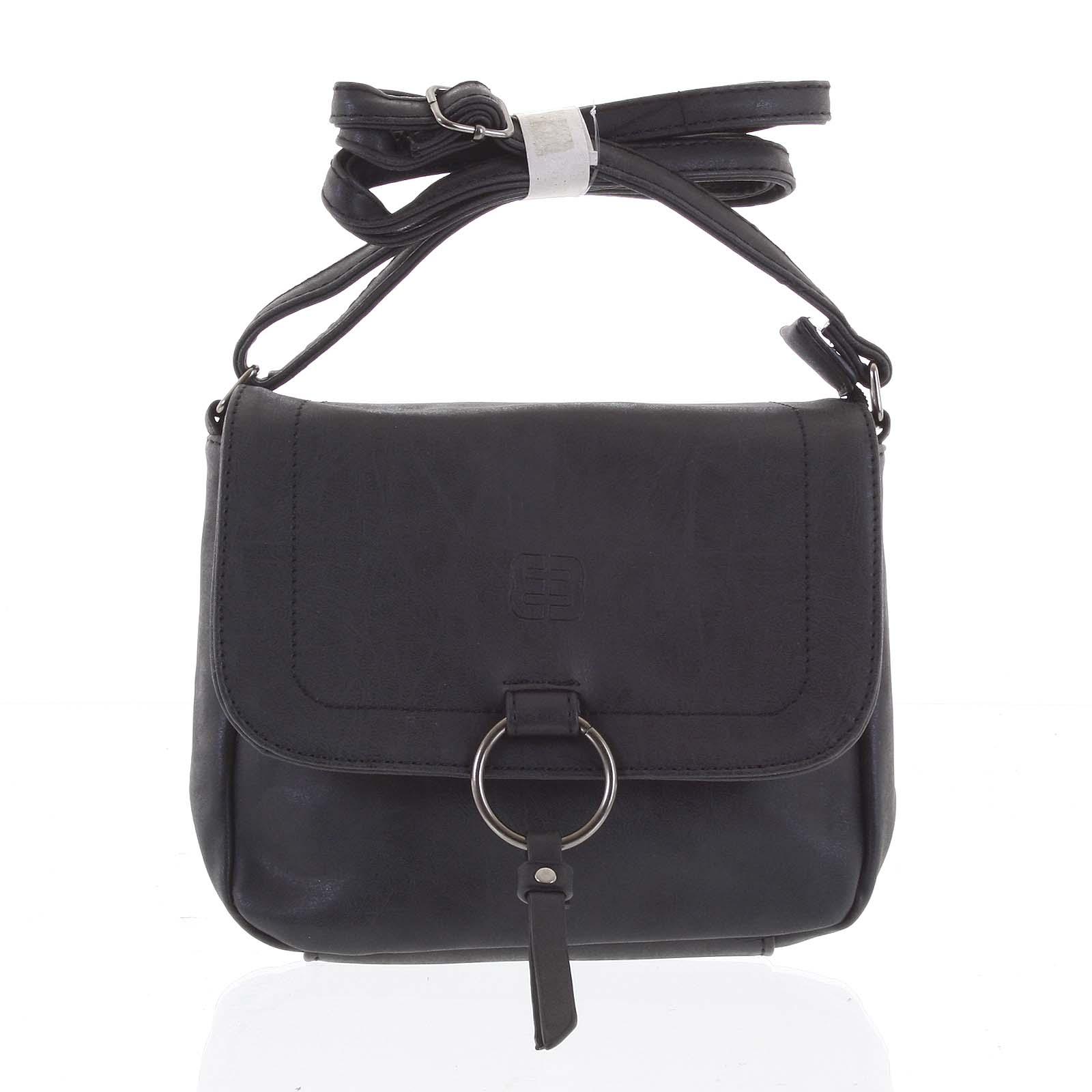 Crossbody kabelka malá černá - Enrico Benetti Echo