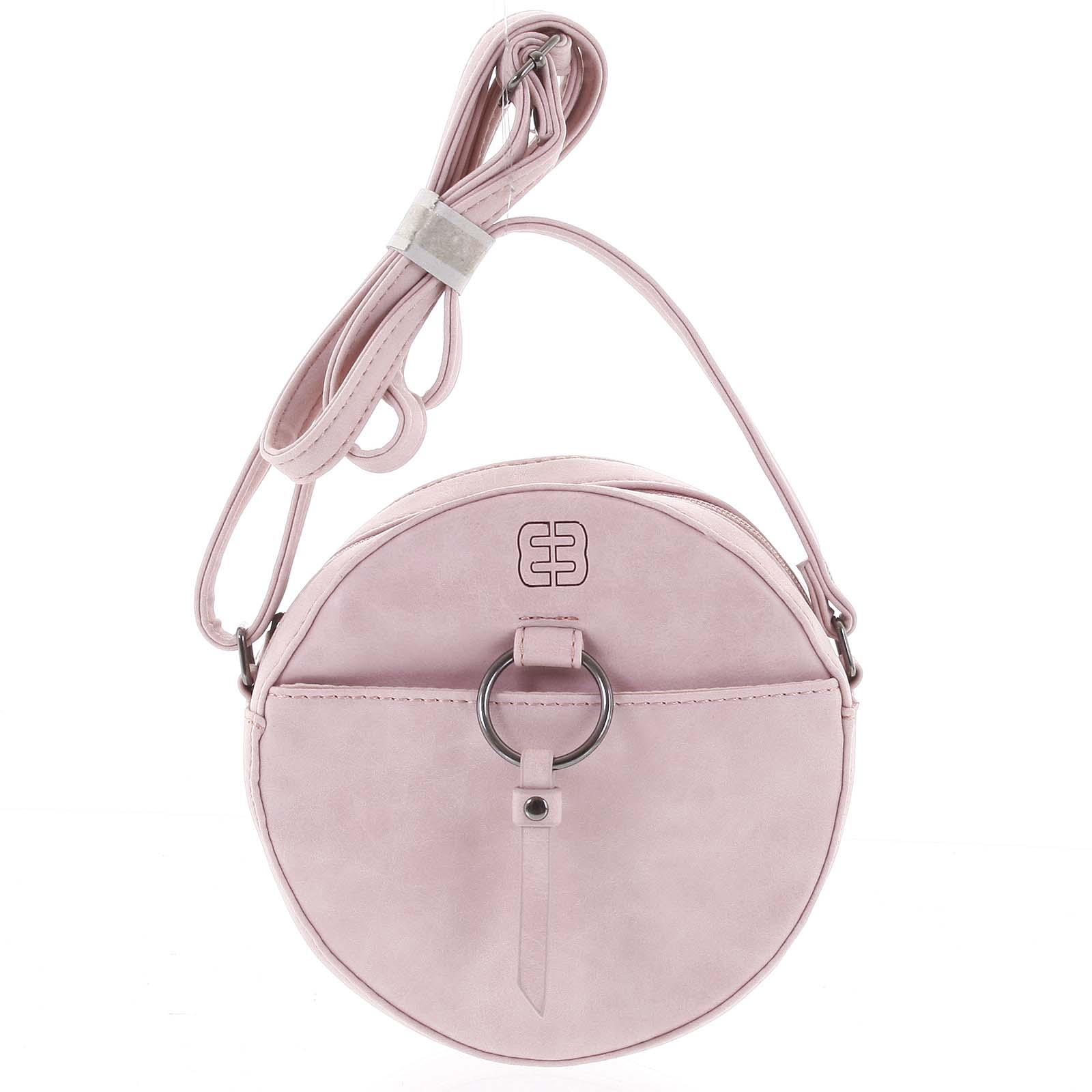 Kulatá moderní dámská crossbody kabelka růžová - Enrico Benetti Behesha