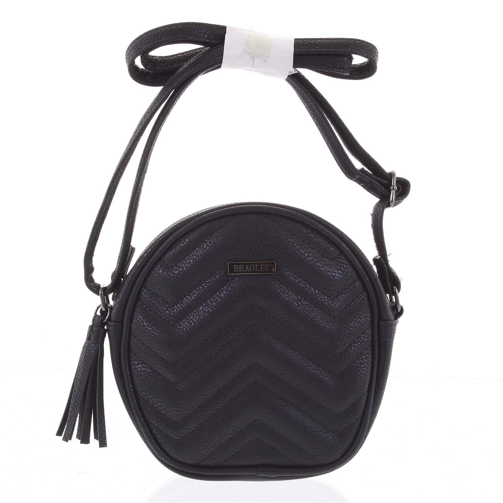 Malá trendy crossbody kabelka černá - Beagles Mana