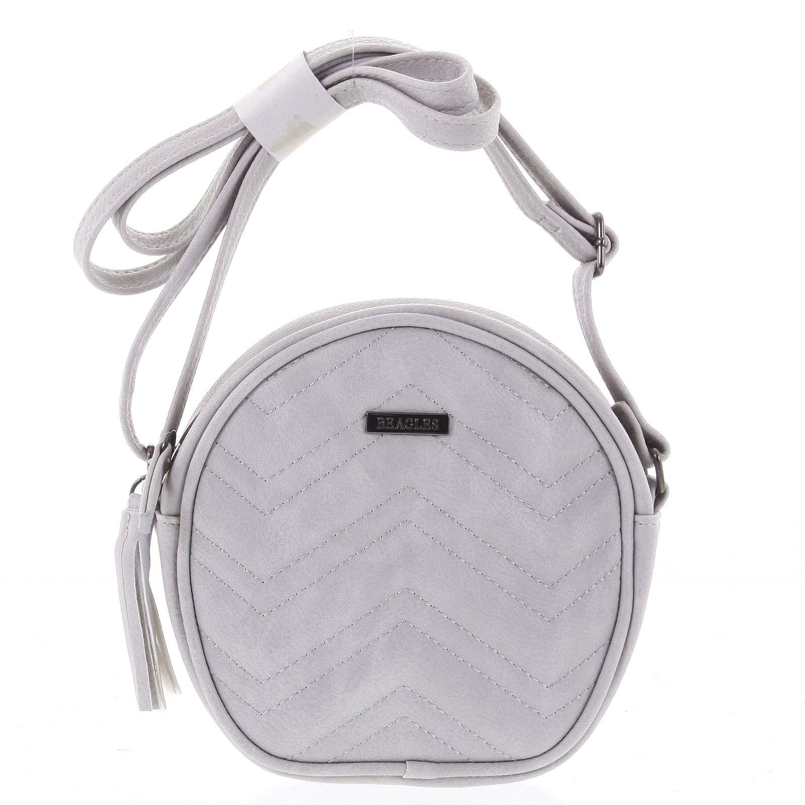 Malá trendy crossbody kabelka světle šedá  - Beagles Mana