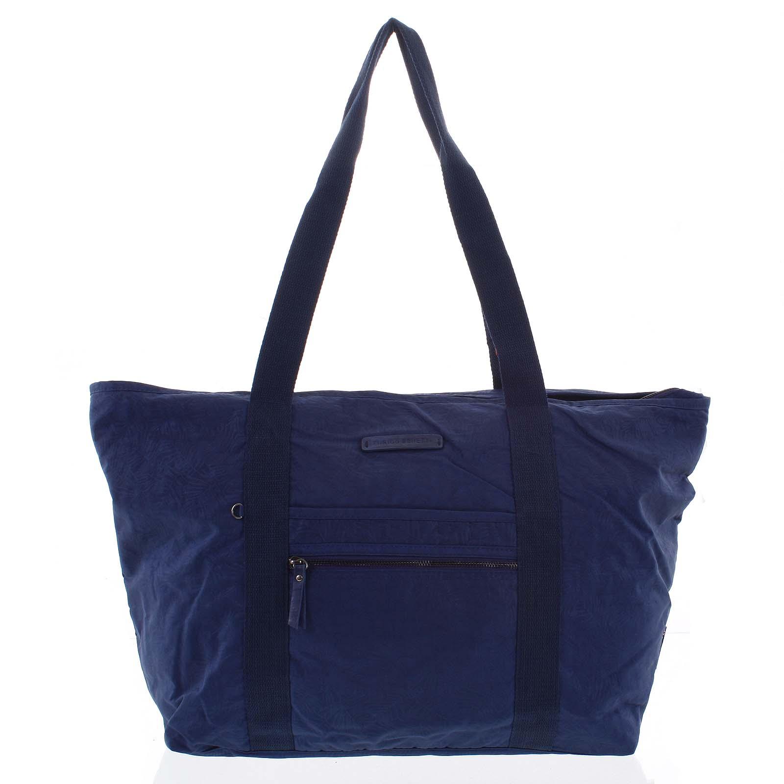 Velká dámská cestovní taška přes rameno tmavě modrá - Enrico Benetti Mariam