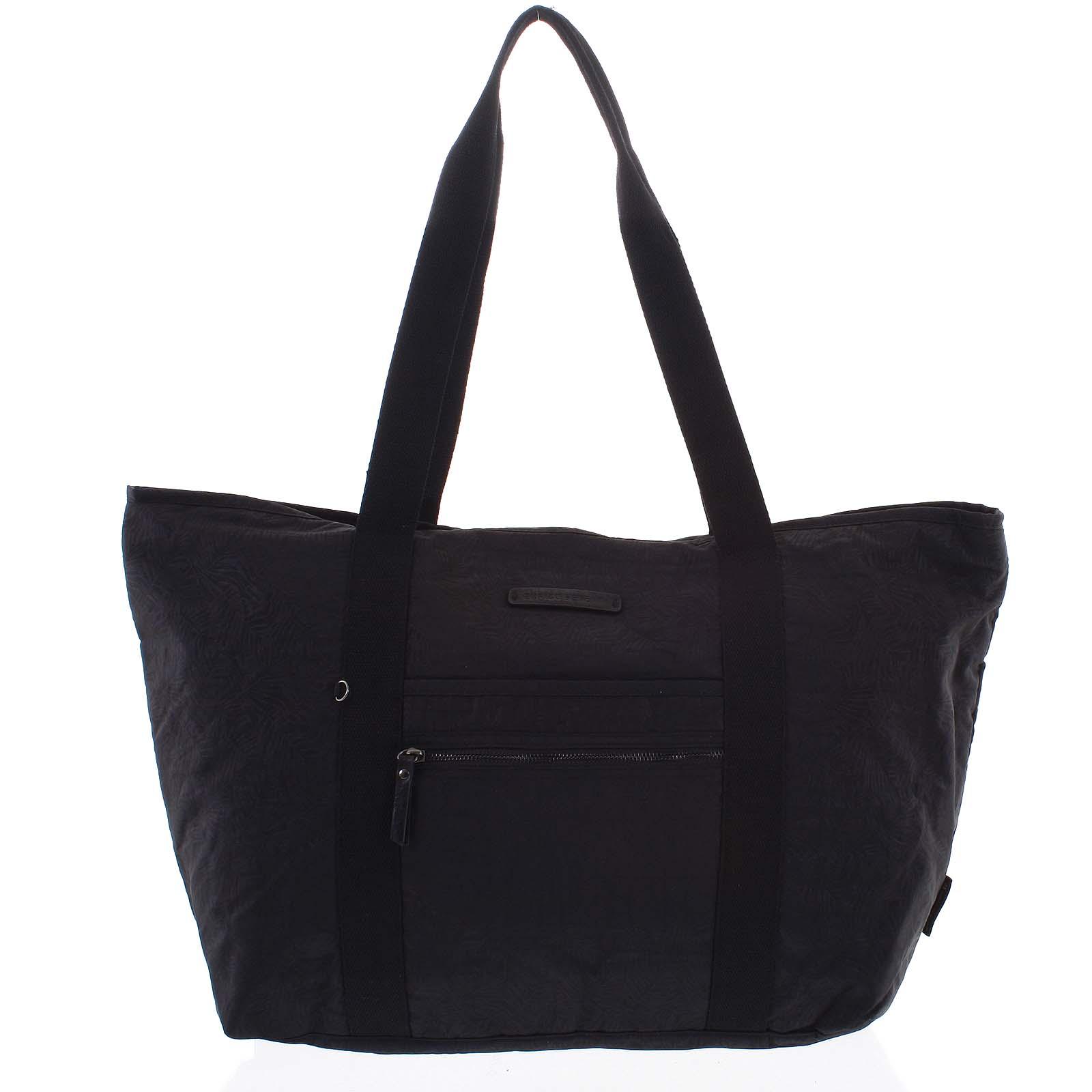 Velká dámská cestovní taška přes rameno černá - Enrico Benetti Mariam