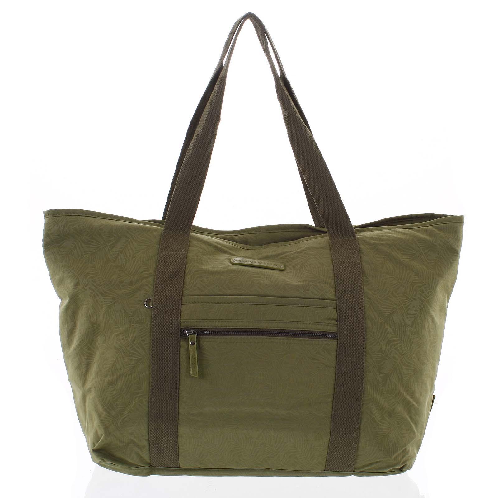 Velká dámská cestovní taška přes rameno zelená - Enrico Benetti Mariam