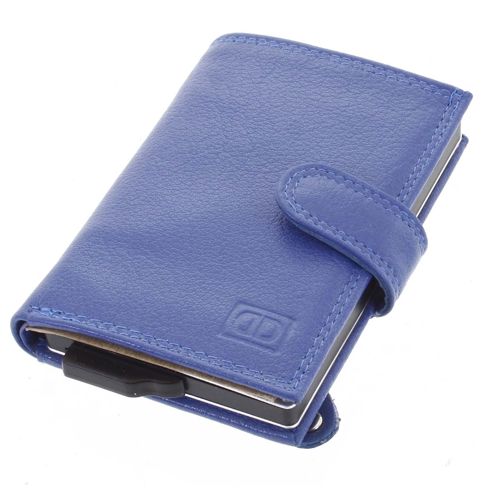Kožené pouzdro na karty modré - Double-D Jokim