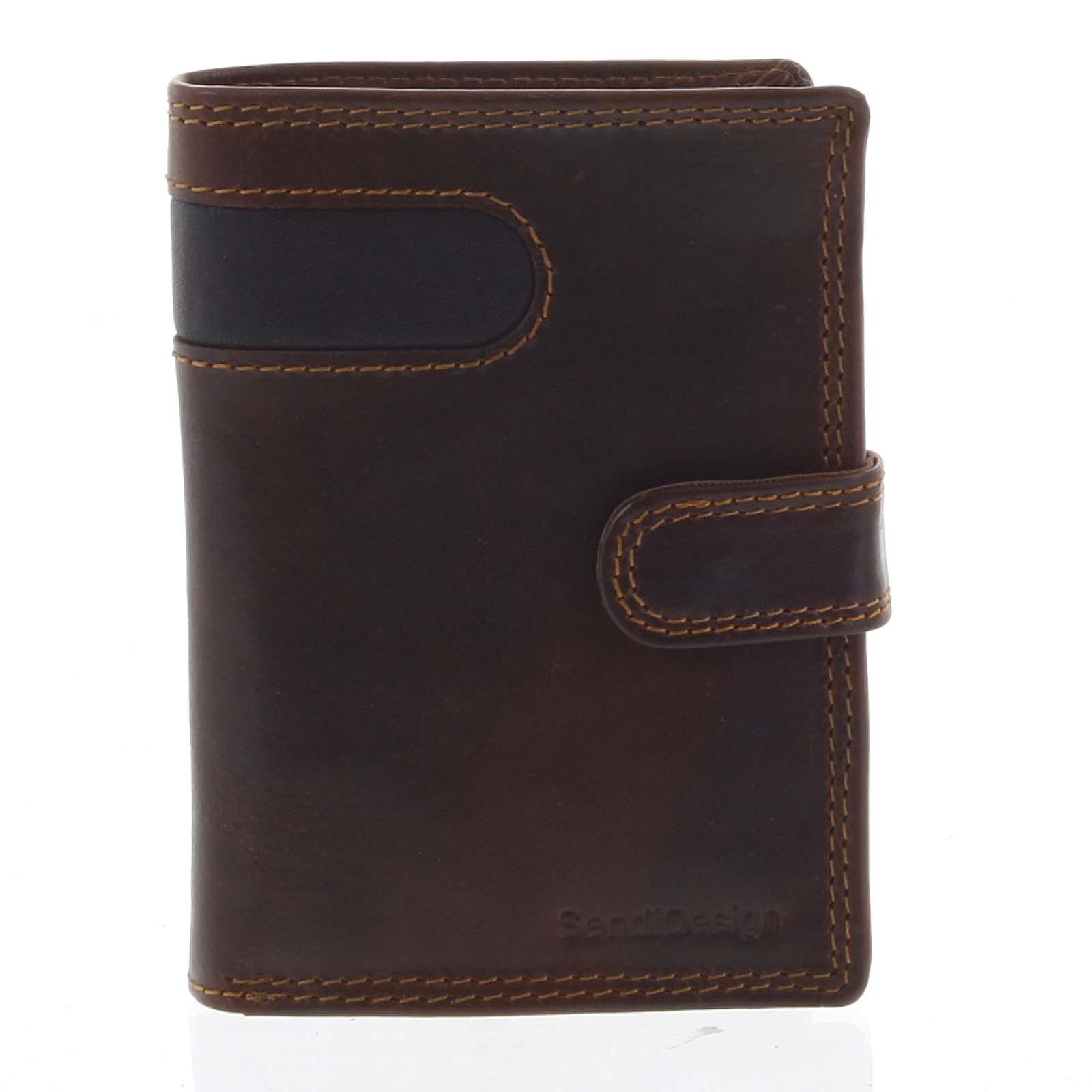 Pánská kožená peněženka hnědá - SendiDesign Elam