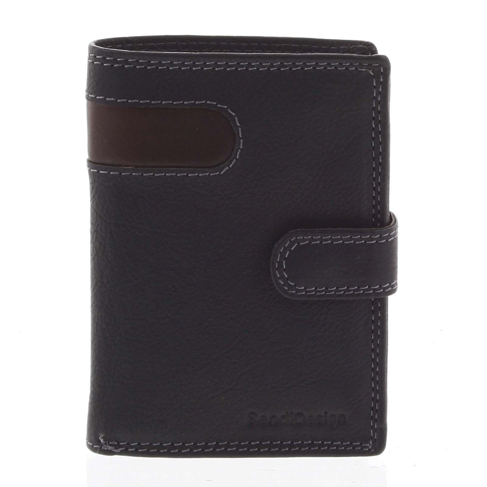 Pánská kožená peněženka černá - SendiDesign Elam