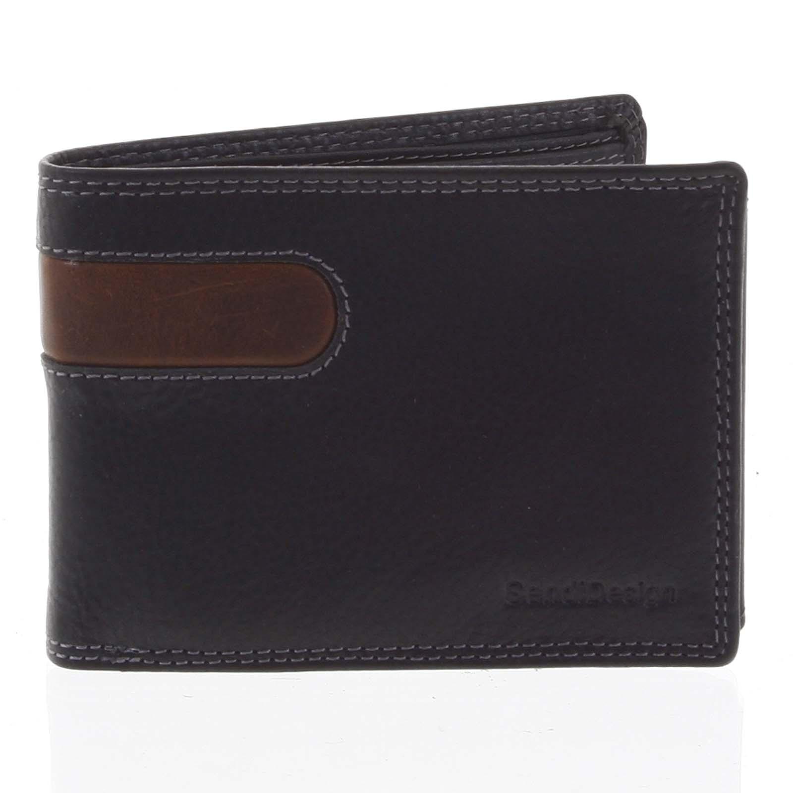 Business pánská kožená peněženka černá - SendiDesign Joel