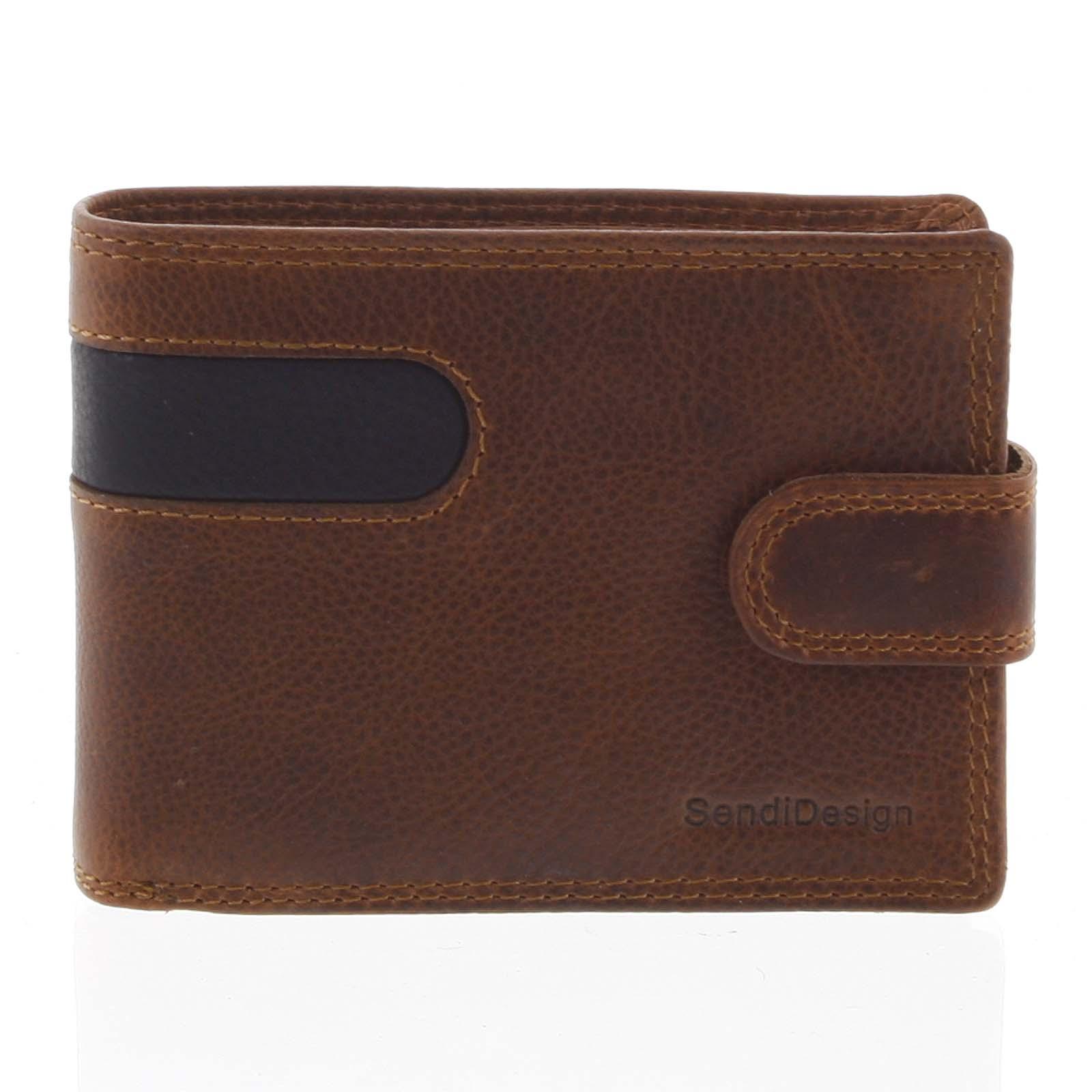 Oblíbená pánská kožená peněženka hnědá - SendiDesign Igeal
