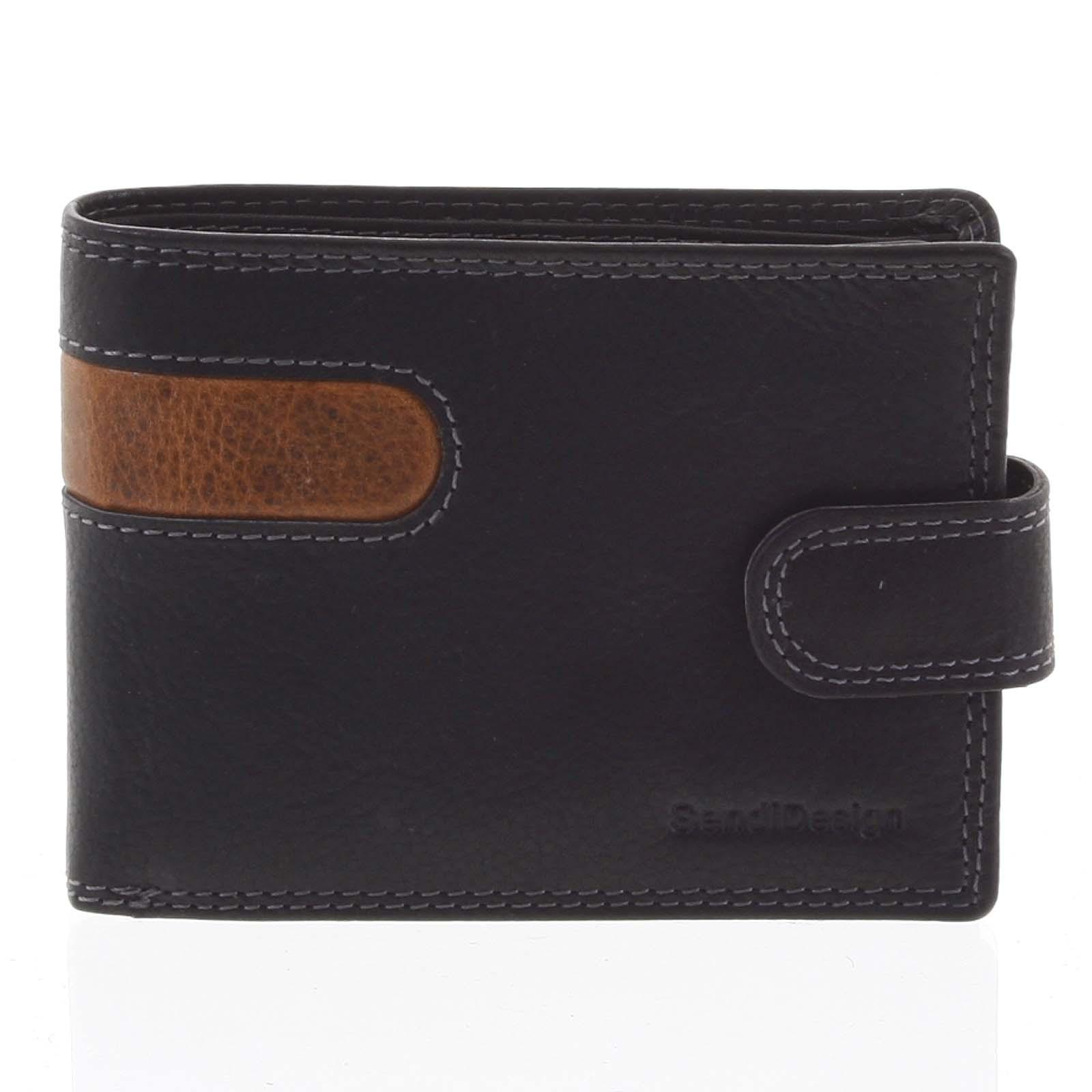 Oblíbená pánská kožená peněženka černá - SendiDesign Igeal