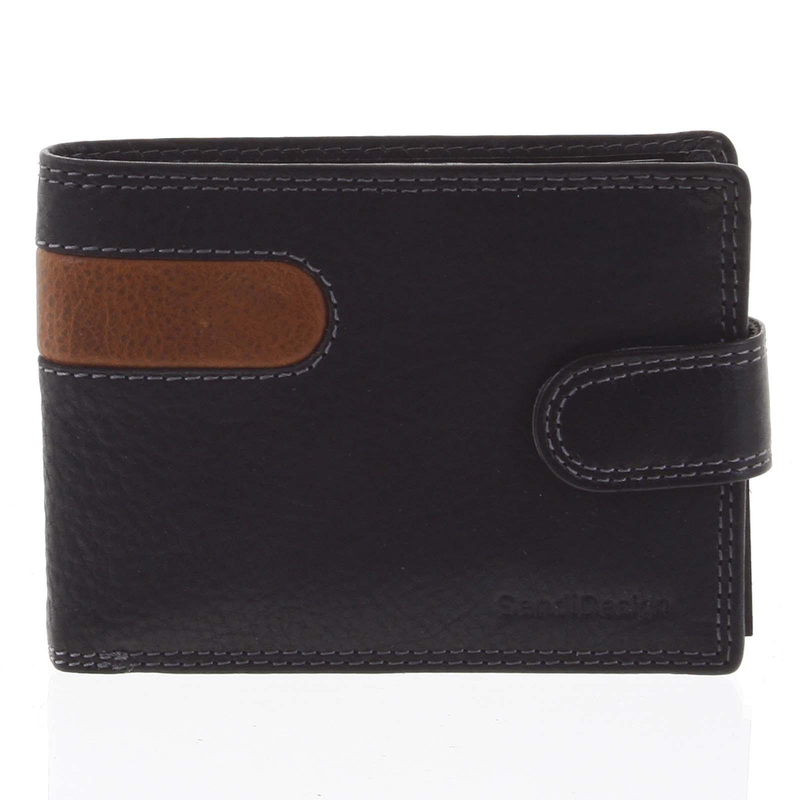 Nejprodávanější pánská kožená peněženka černá - SendiDesign Tarsus