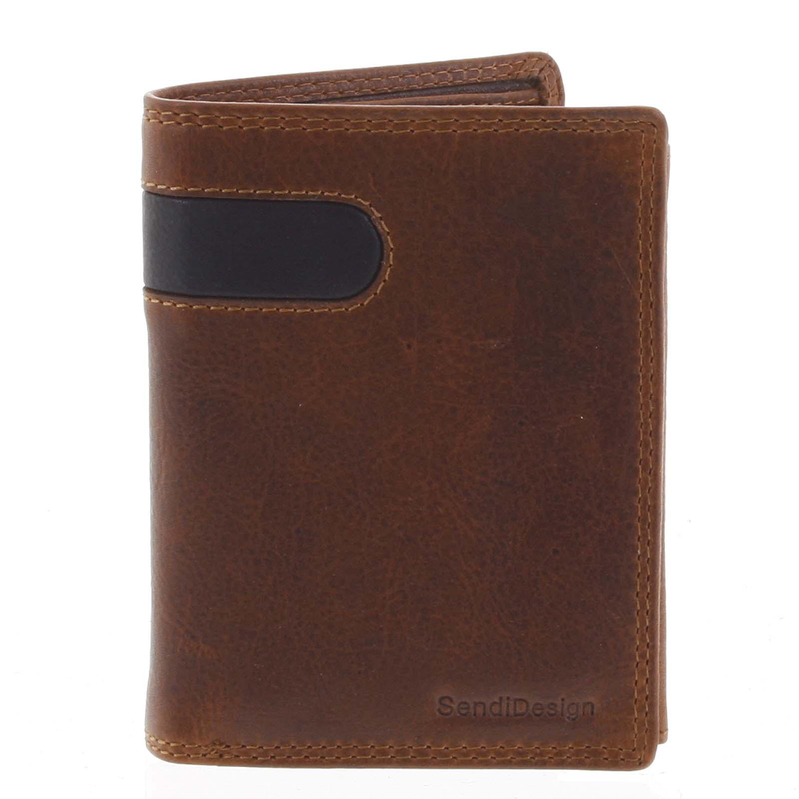 Pánská kožená peněženka hnědá - SendiDesign Parah